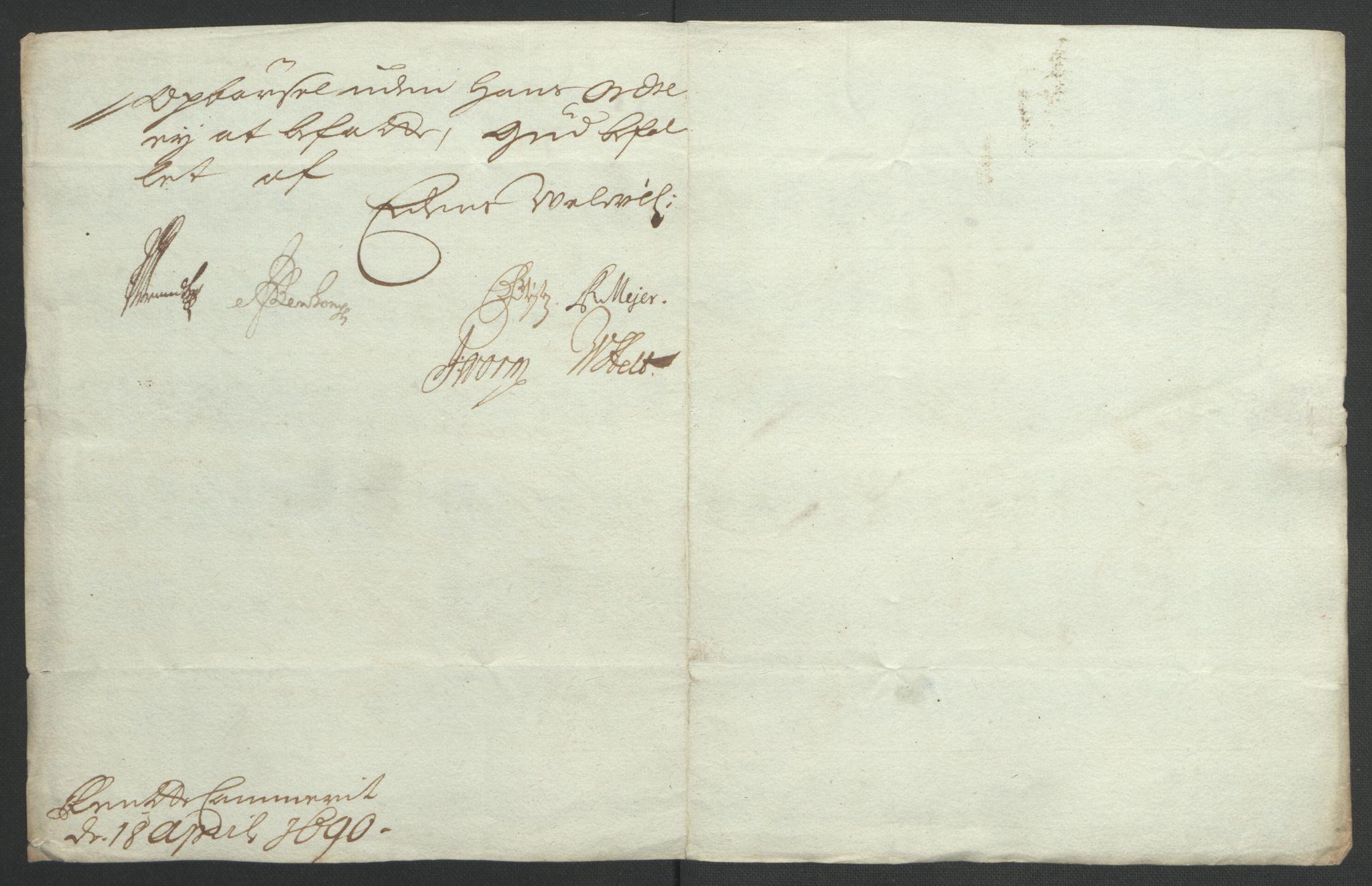 RA, Rentekammeret inntil 1814, Reviderte regnskaper, Fogderegnskap, R35/L2091: Fogderegnskap Øvre og Nedre Telemark, 1690-1693, s. 66