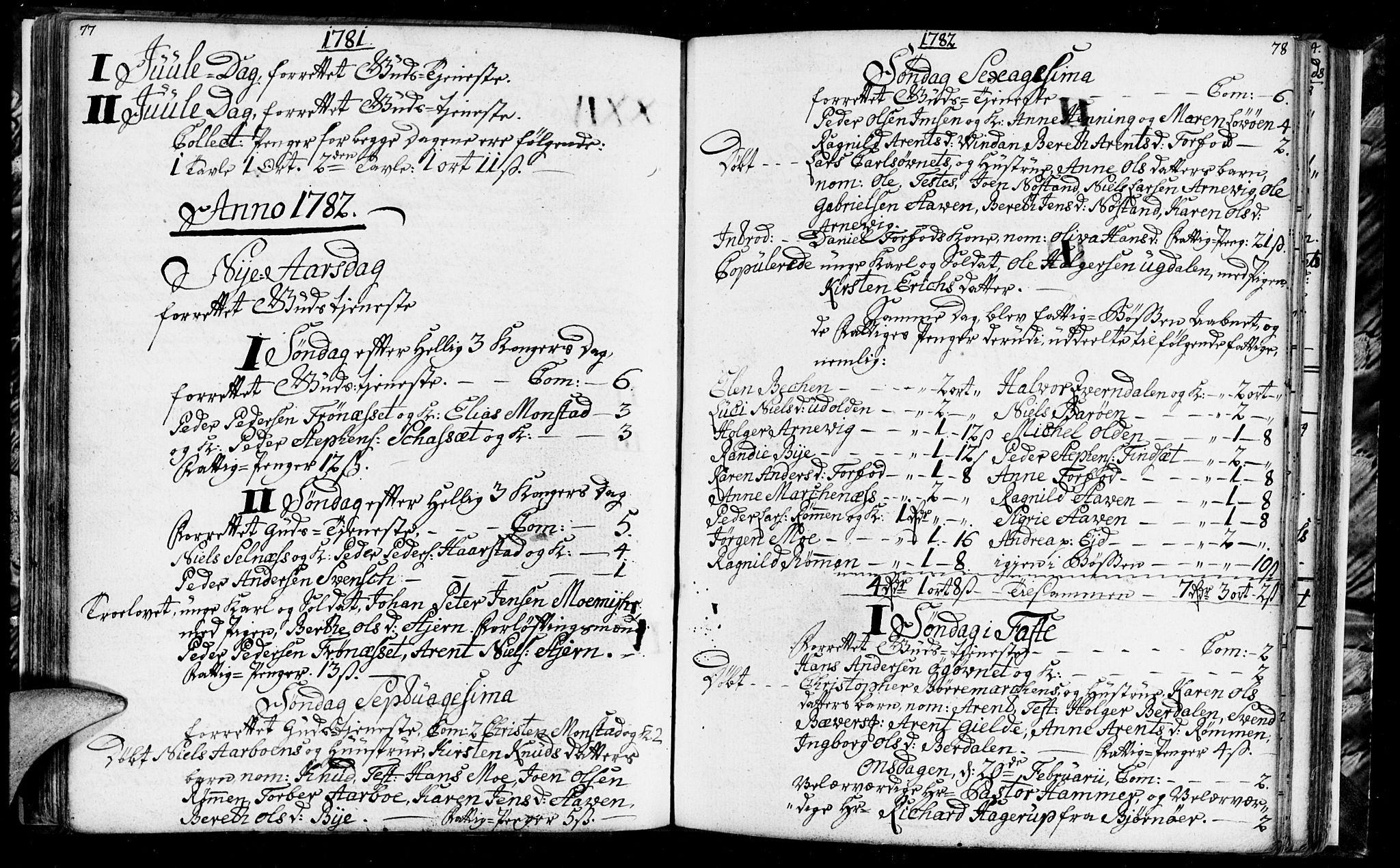 SAT, Ministerialprotokoller, klokkerbøker og fødselsregistre - Sør-Trøndelag, 655/L0685: Klokkerbok nr. 655C01, 1777-1788, s. 77-78