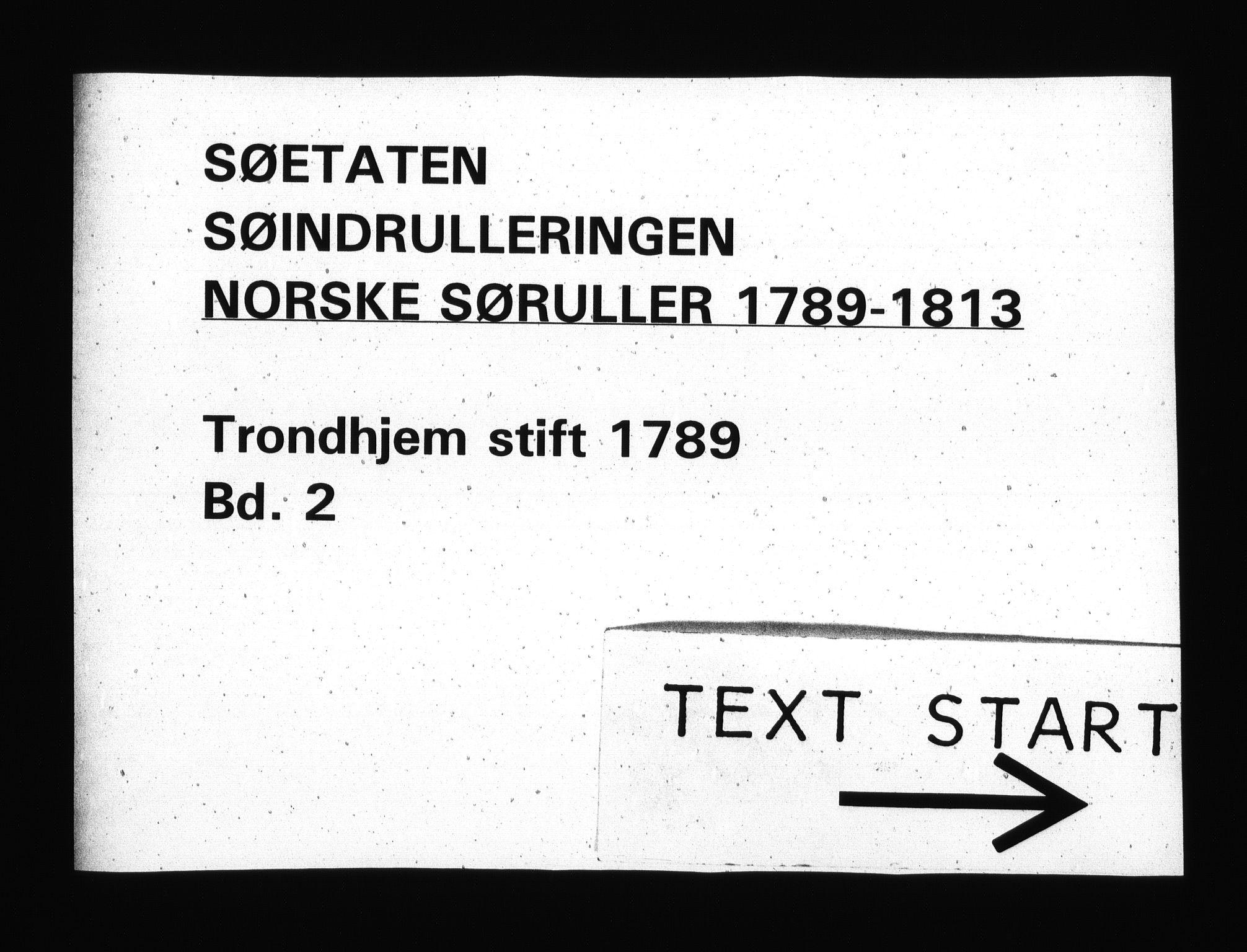 RA, Sjøetaten, F/L0307: Trondheim stift, bind 2, 1789