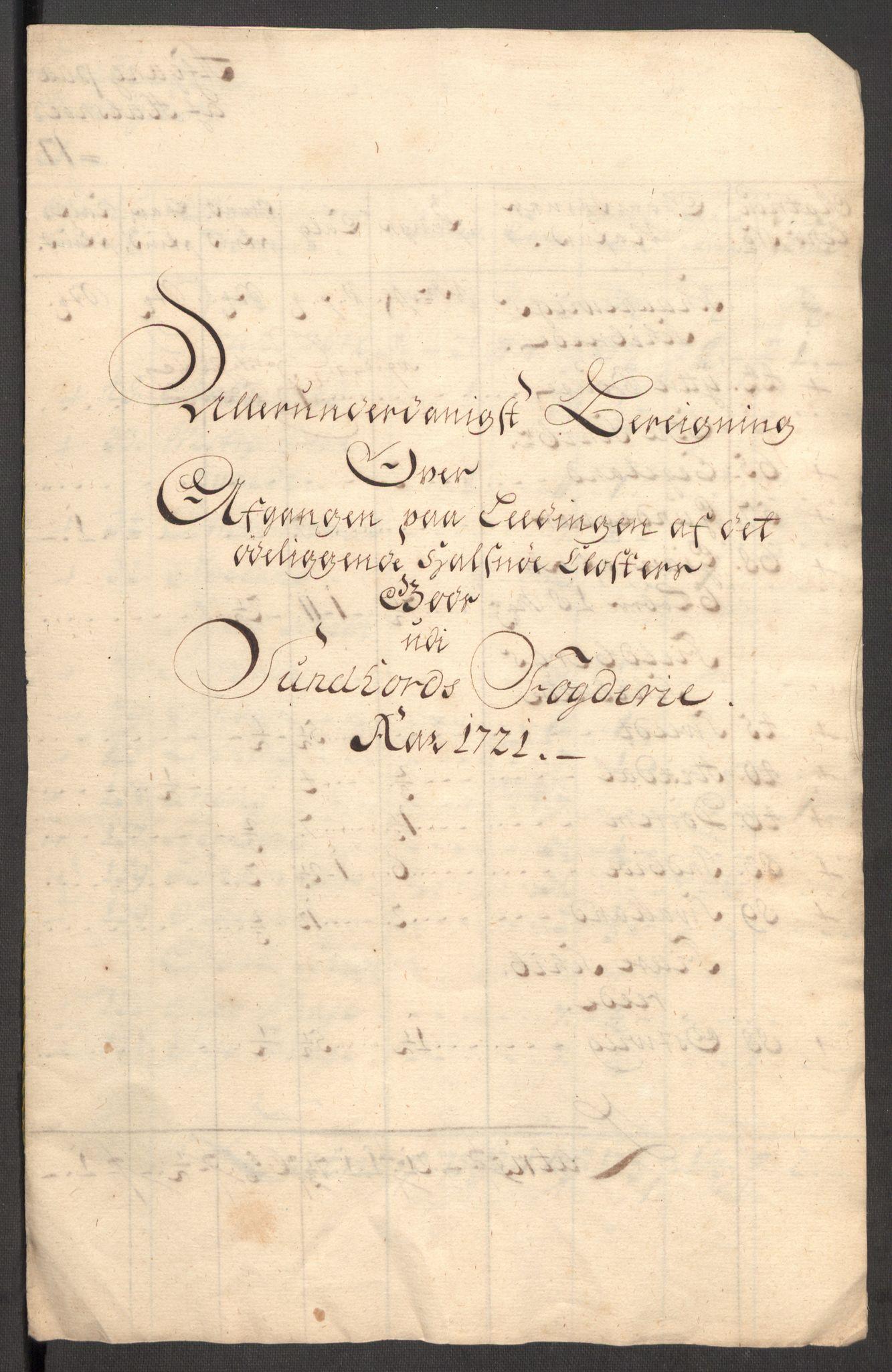 RA, Rentekammeret inntil 1814, Reviderte regnskaper, Fogderegnskap, R48/L3000: Fogderegnskap Sunnhordland og Hardanger, 1721, s. 415