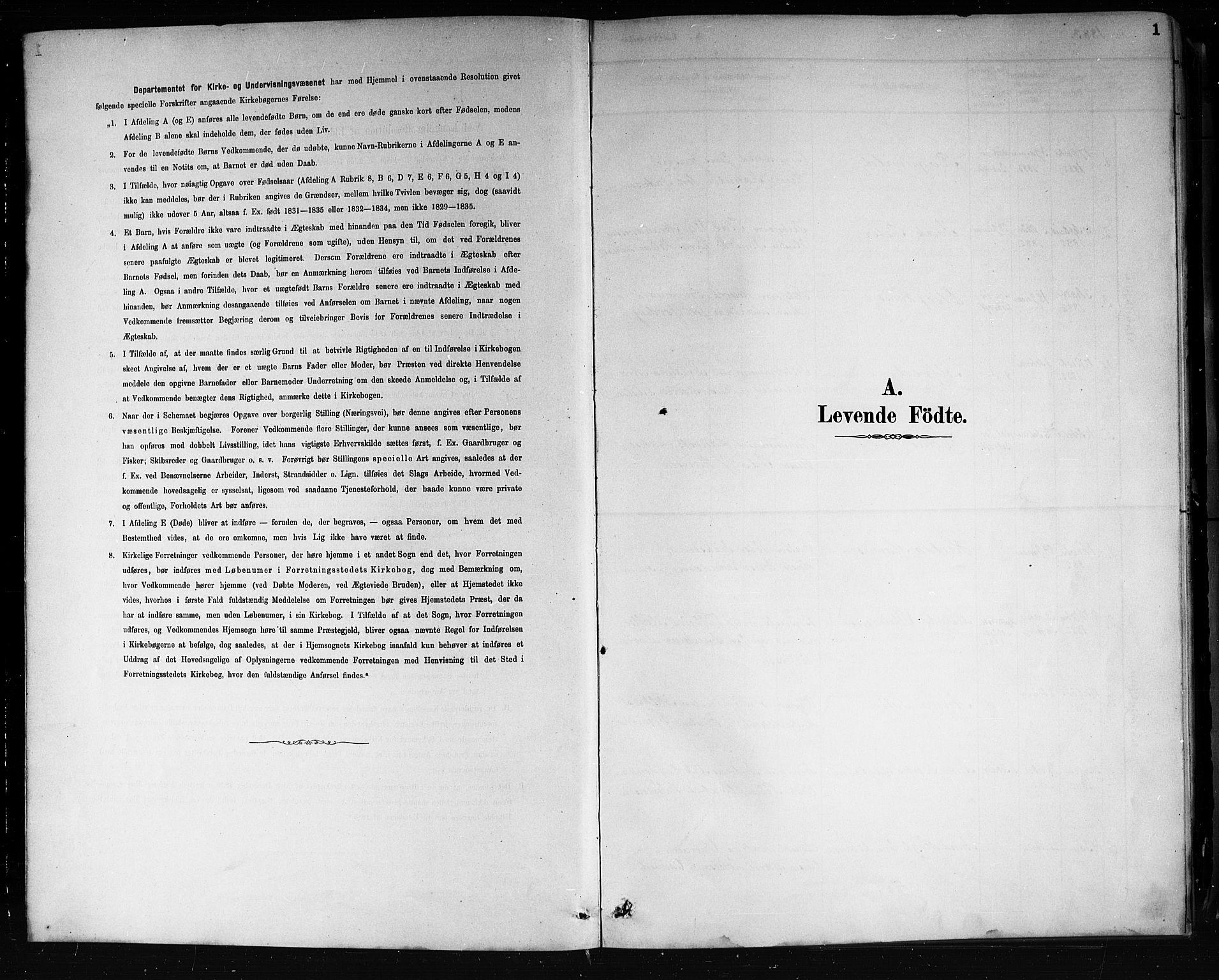 SAKO, Porsgrunn kirkebøker , G/Gb/L0005: Klokkerbok nr. II 5, 1883-1915, s. 1