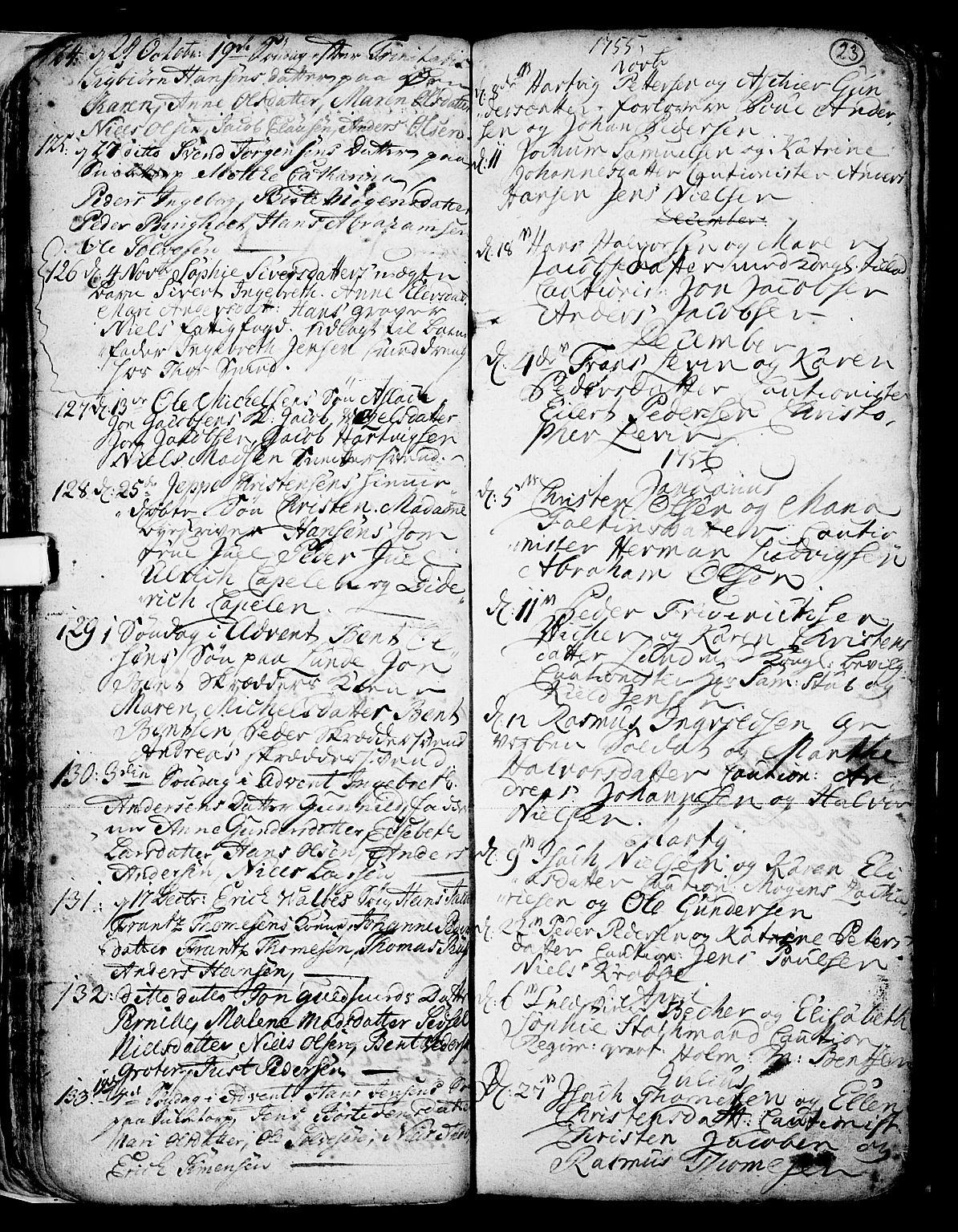 SAKO, Skien kirkebøker, F/Fa/L0002: Ministerialbok nr. 2, 1716-1757, s. 23