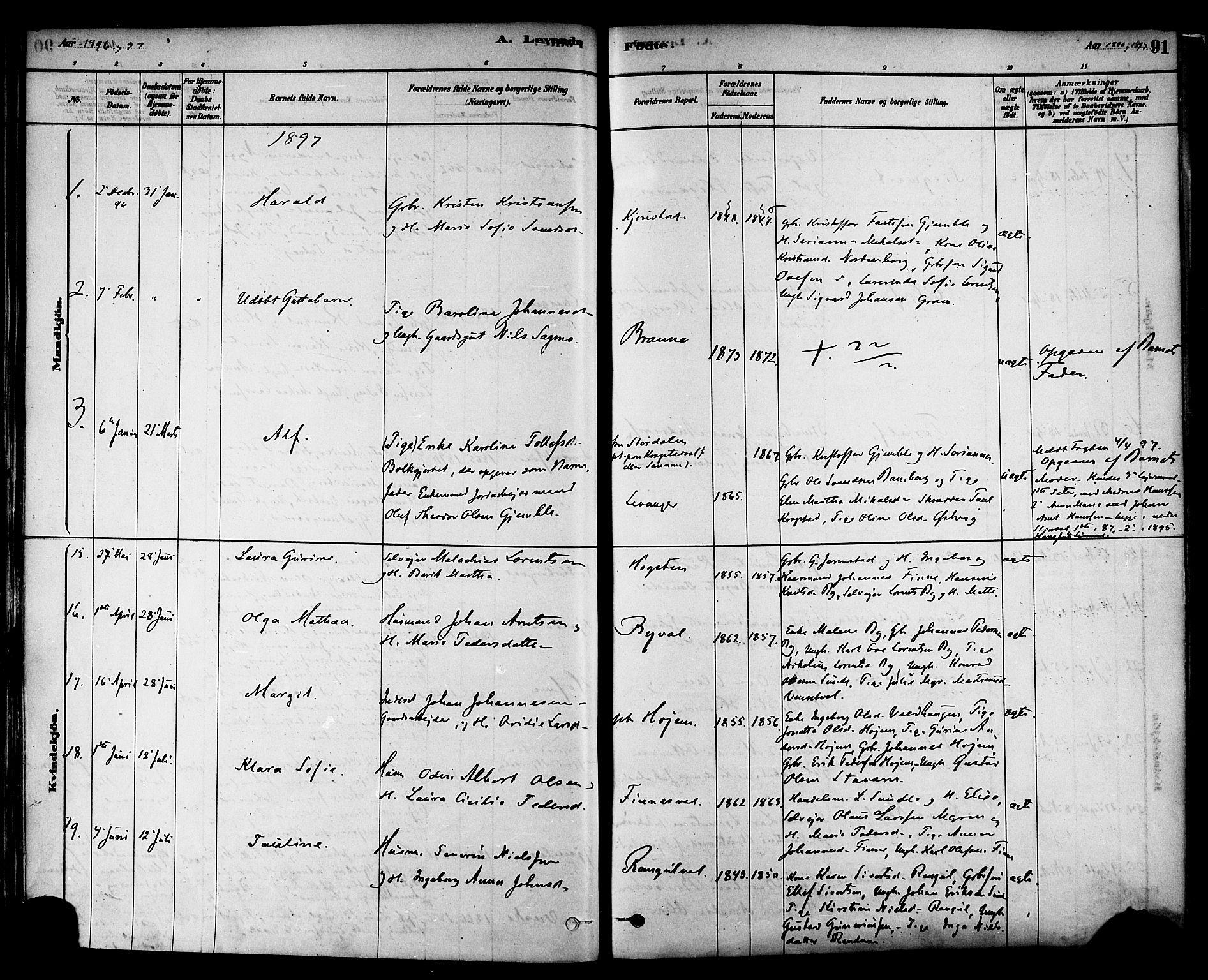 SAT, Ministerialprotokoller, klokkerbøker og fødselsregistre - Nord-Trøndelag, 717/L0159: Ministerialbok nr. 717A09, 1878-1898, s. 91