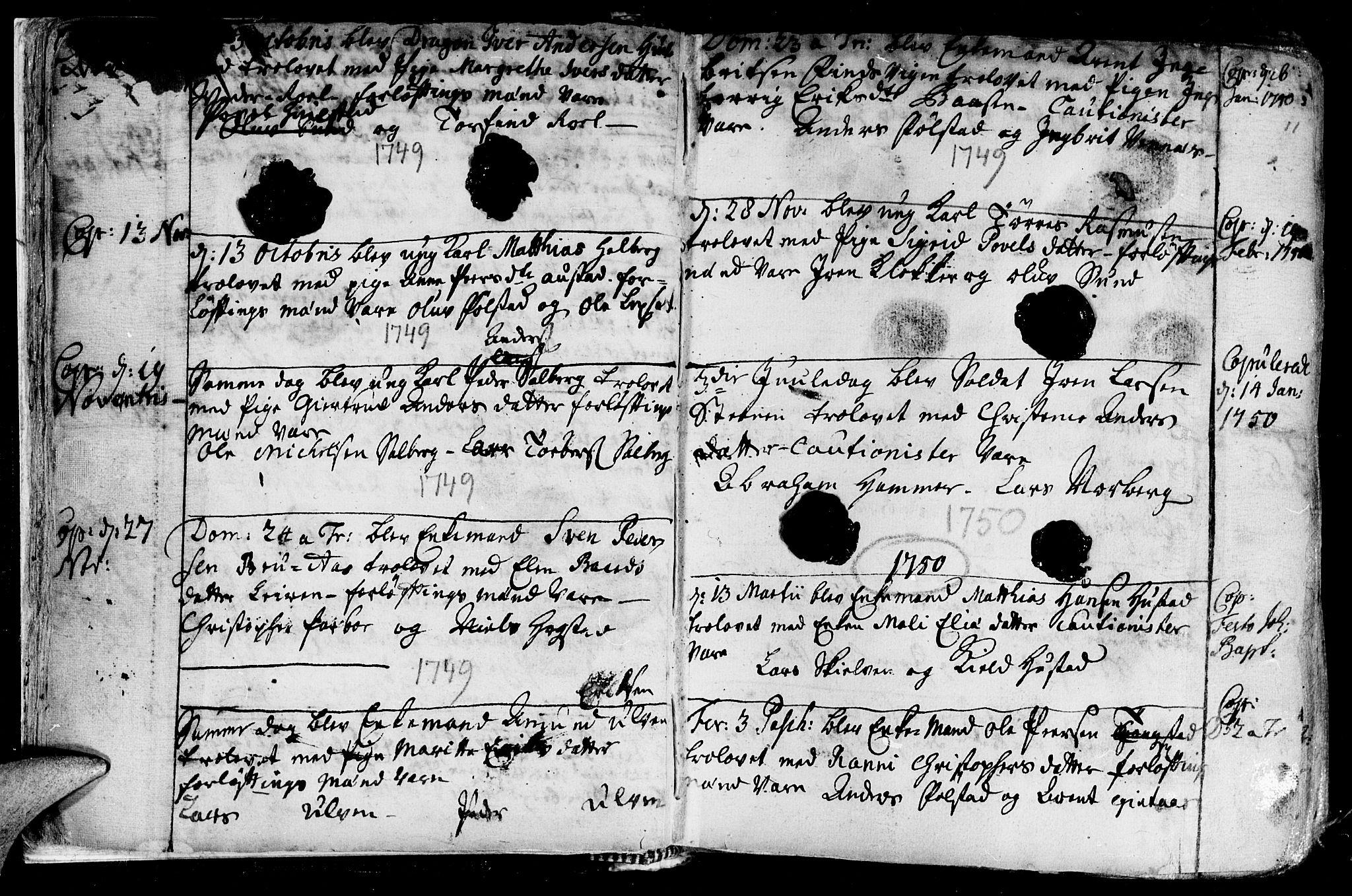 SAT, Ministerialprotokoller, klokkerbøker og fødselsregistre - Nord-Trøndelag, 730/L0272: Ministerialbok nr. 730A01, 1733-1764, s. 11