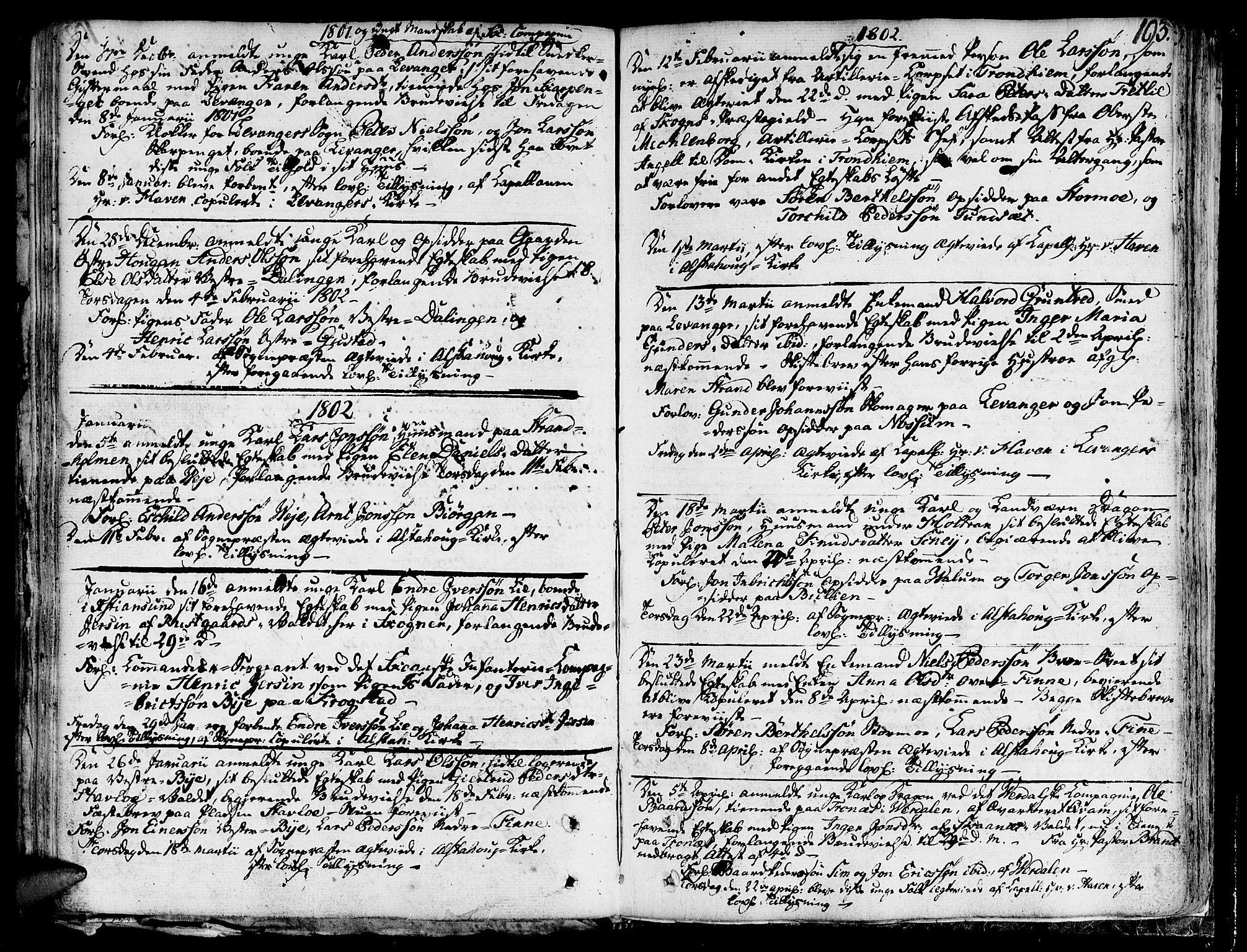 SAT, Ministerialprotokoller, klokkerbøker og fødselsregistre - Nord-Trøndelag, 717/L0142: Ministerialbok nr. 717A02 /1, 1783-1809, s. 193