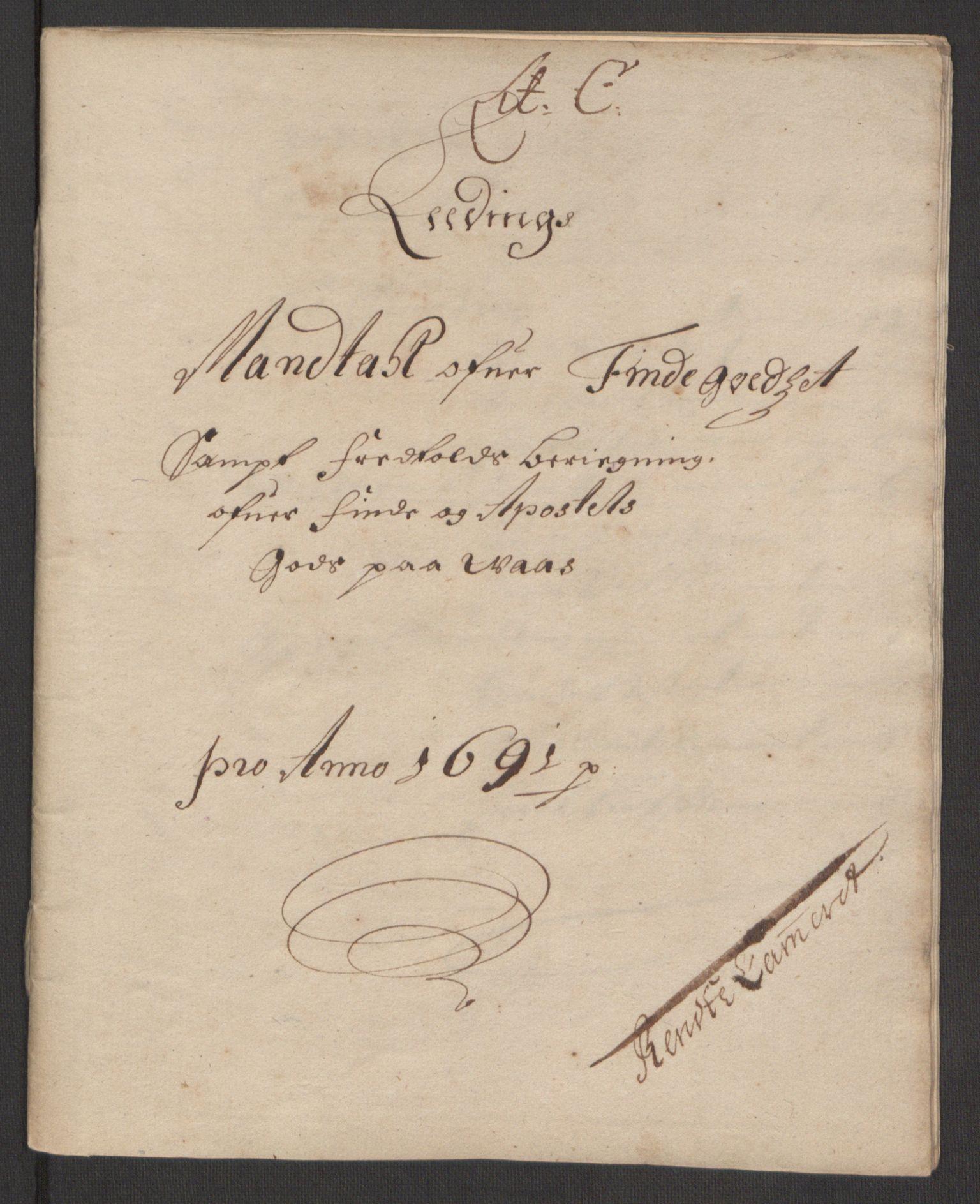 RA, Rentekammeret inntil 1814, Reviderte regnskaper, Fogderegnskap, R51/L3181: Fogderegnskap Nordhordland og Voss, 1691-1692, s. 52