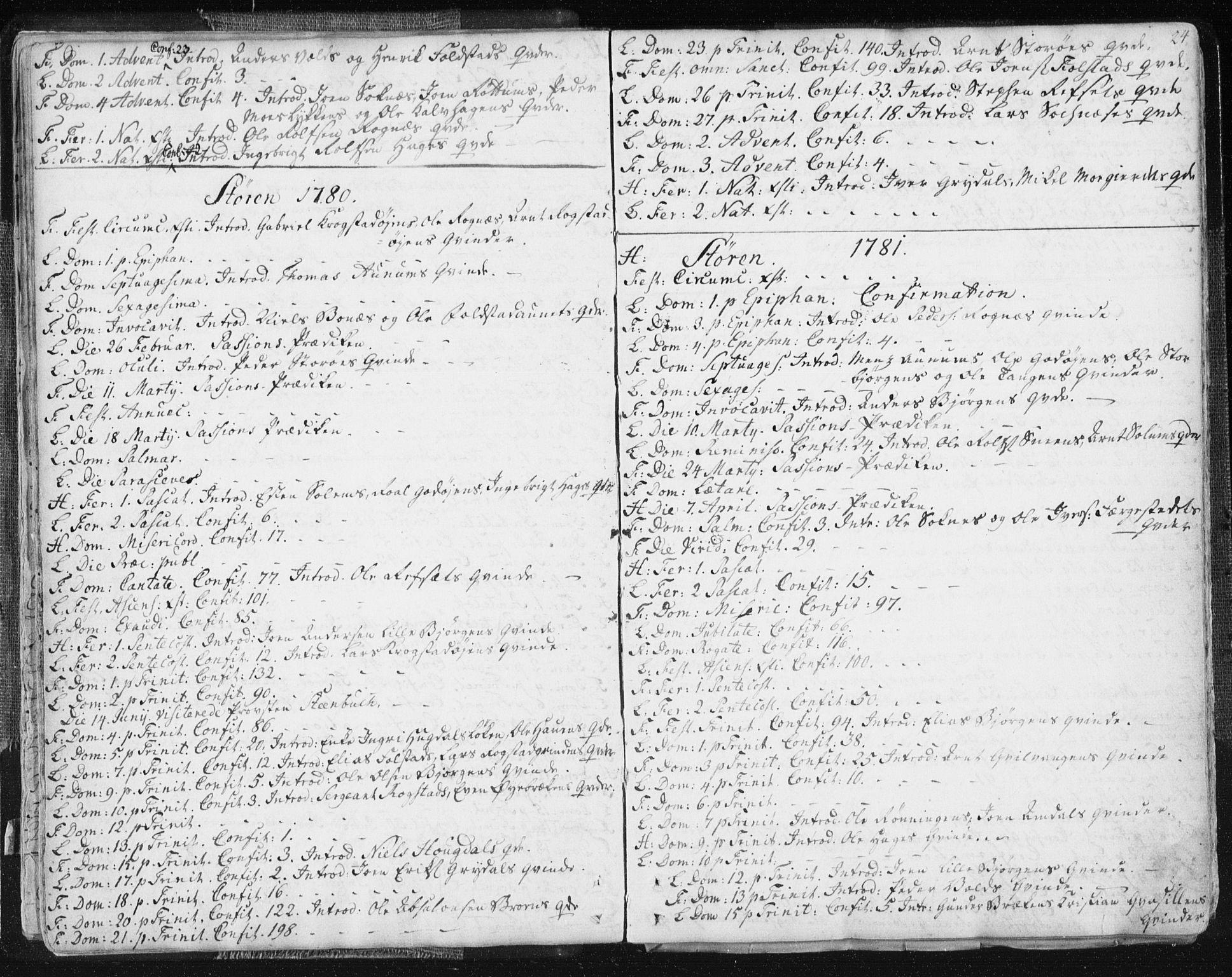 SAT, Ministerialprotokoller, klokkerbøker og fødselsregistre - Sør-Trøndelag, 687/L0991: Ministerialbok nr. 687A02, 1747-1790, s. 24