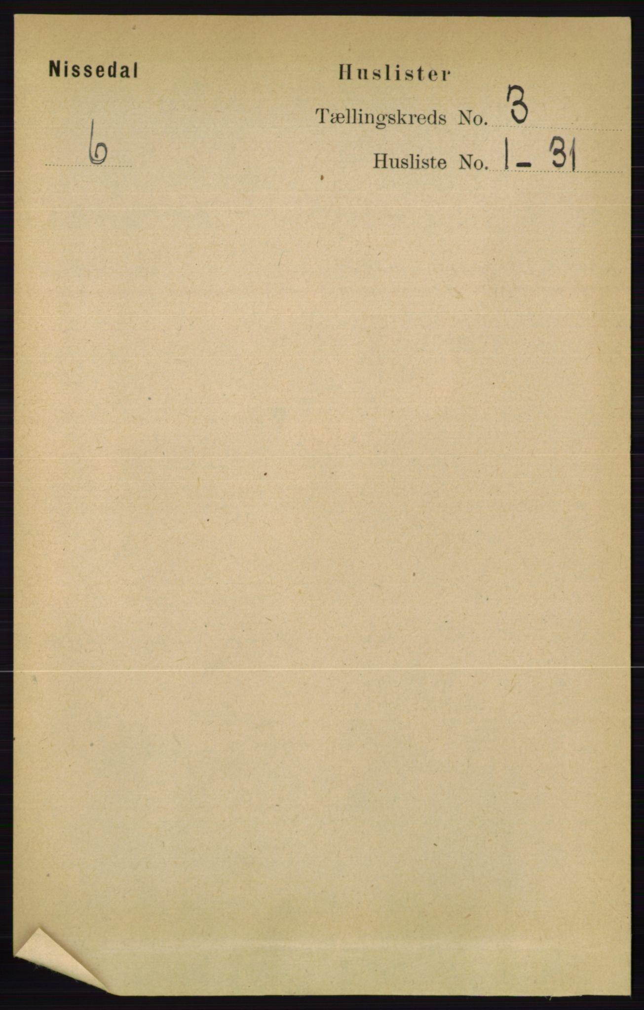 RA, Folketelling 1891 for 0830 Nissedal herred, 1891, s. 596