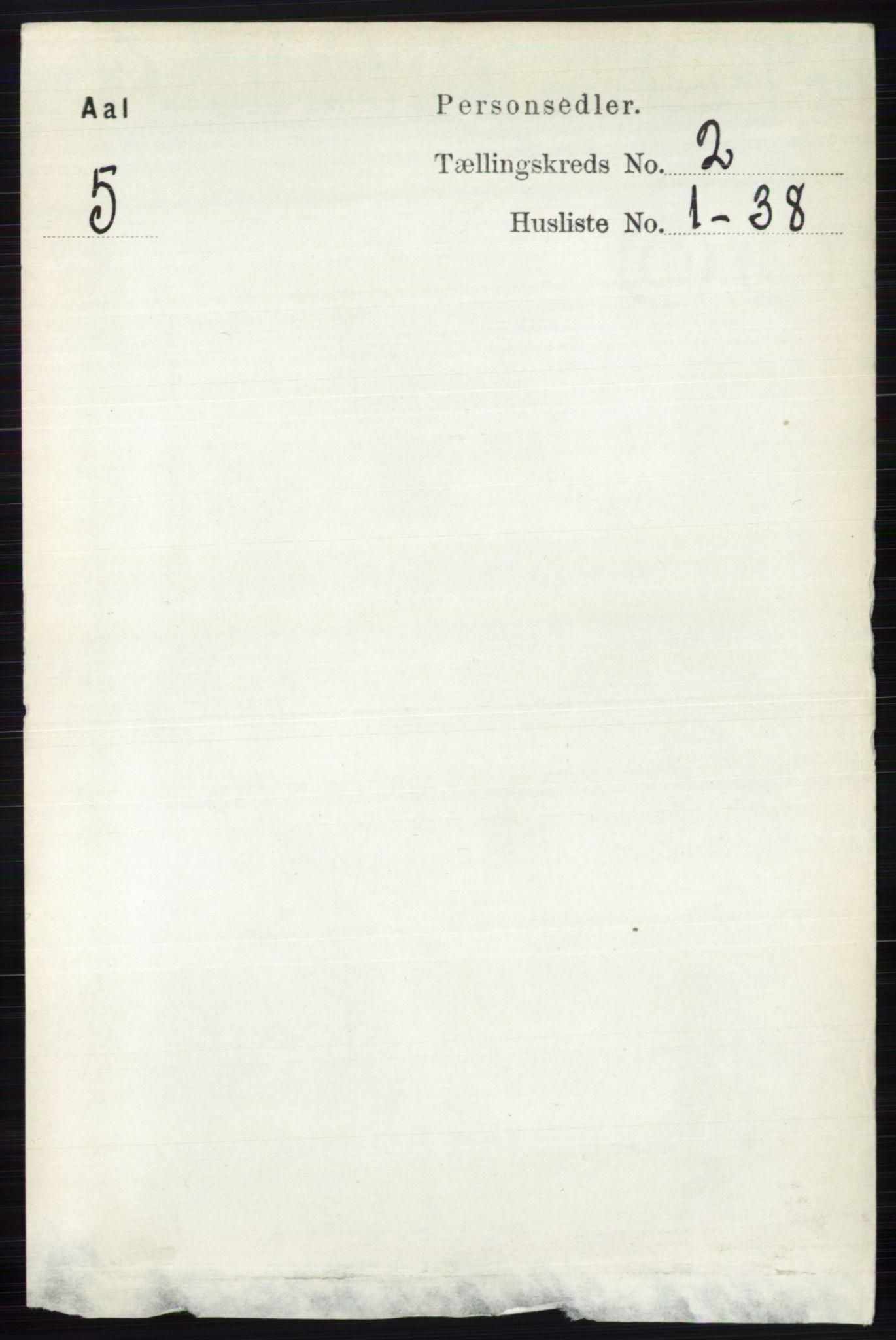 RA, Folketelling 1891 for 0619 Ål herred, 1891, s. 371