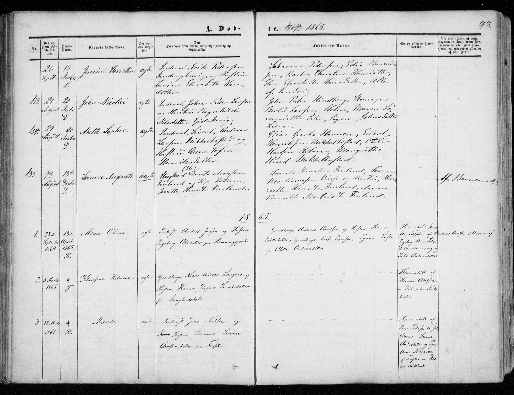 SATØ, Tranøy sokneprestkontor, I/Ia/Iaa/L0007kirke: Ministerialbok nr. 7, 1856-1866, s. 98