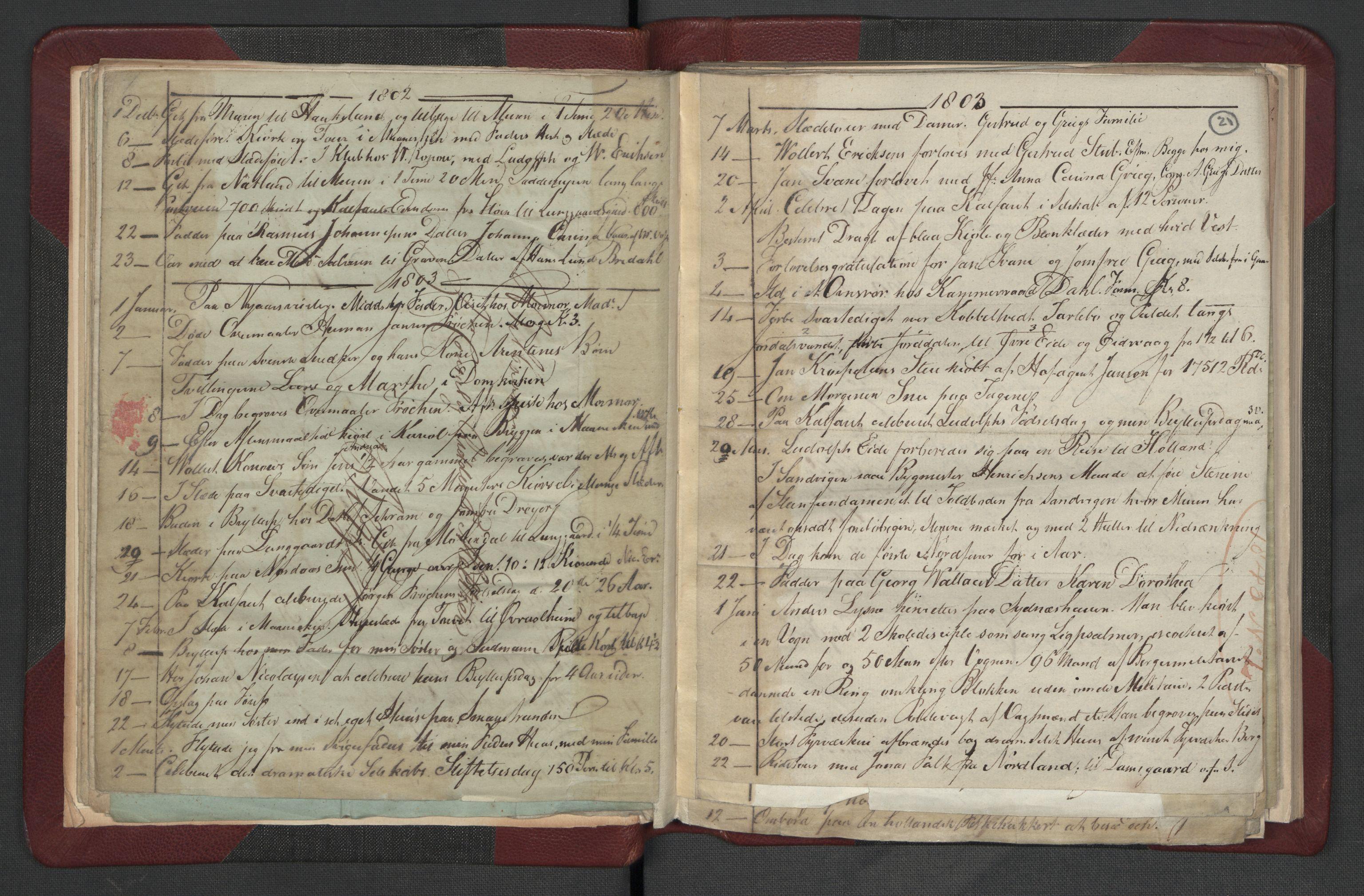 RA, Meltzer, Fredrik, F/L0002: Dagbok, 1796-1808, s. 20b-21a