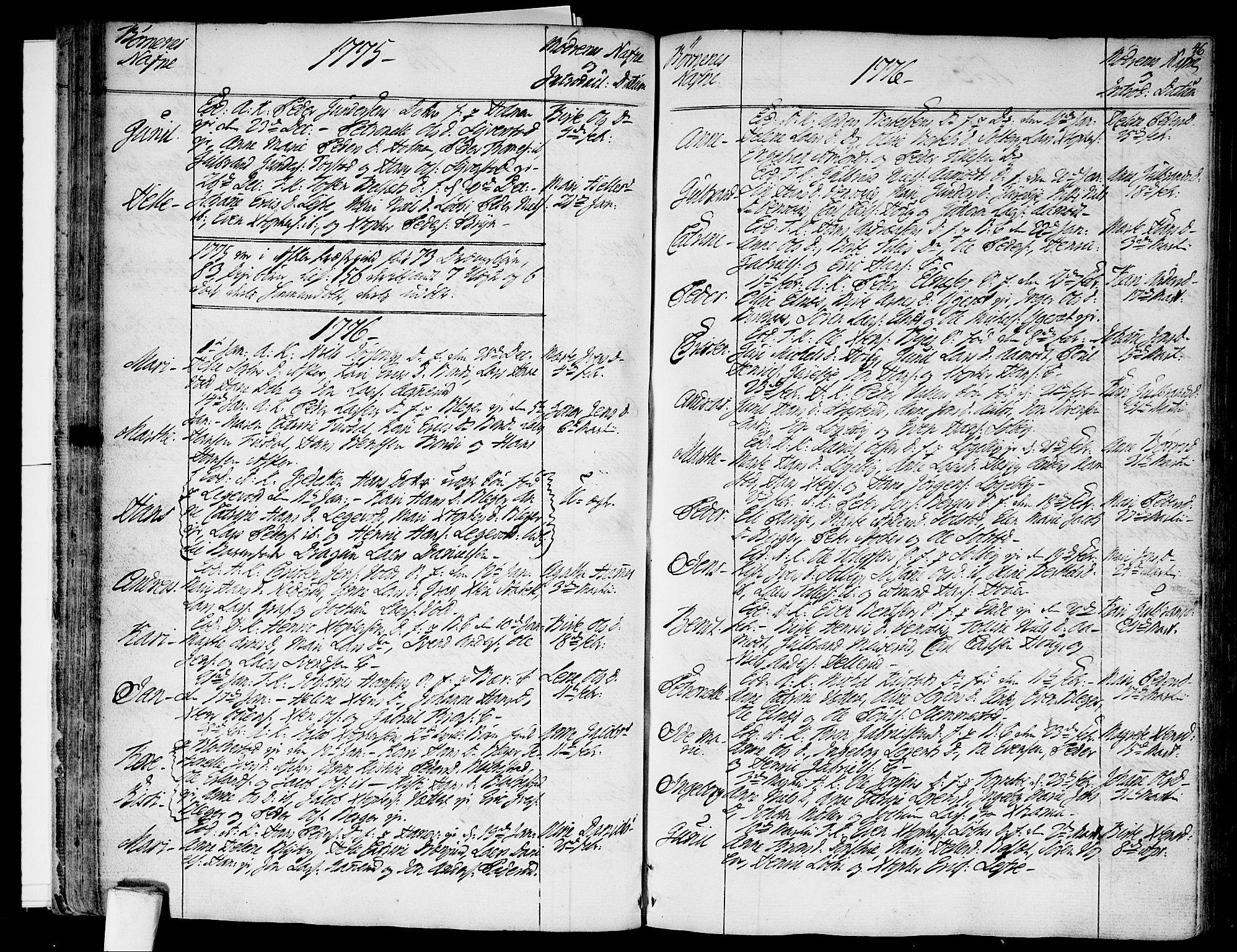 SAO, Asker prestekontor Kirkebøker, F/Fa/L0003: Ministerialbok nr. I 3, 1767-1807, s. 46