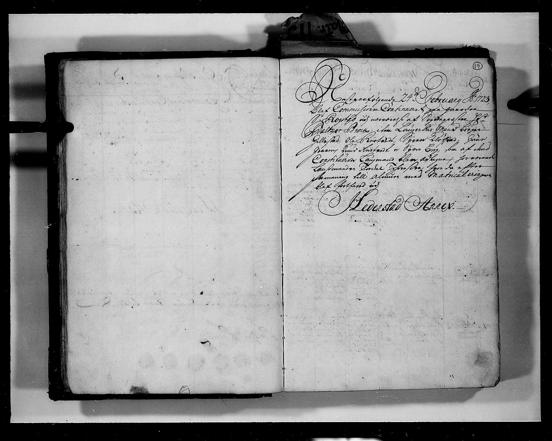 RA, Rentekammeret inntil 1814, Realistisk ordnet avdeling, N/Nb/Nbf/L0113: Numedal og Sandsvær eksaminasjonsprotokoll, 1723, s. 18b-19a