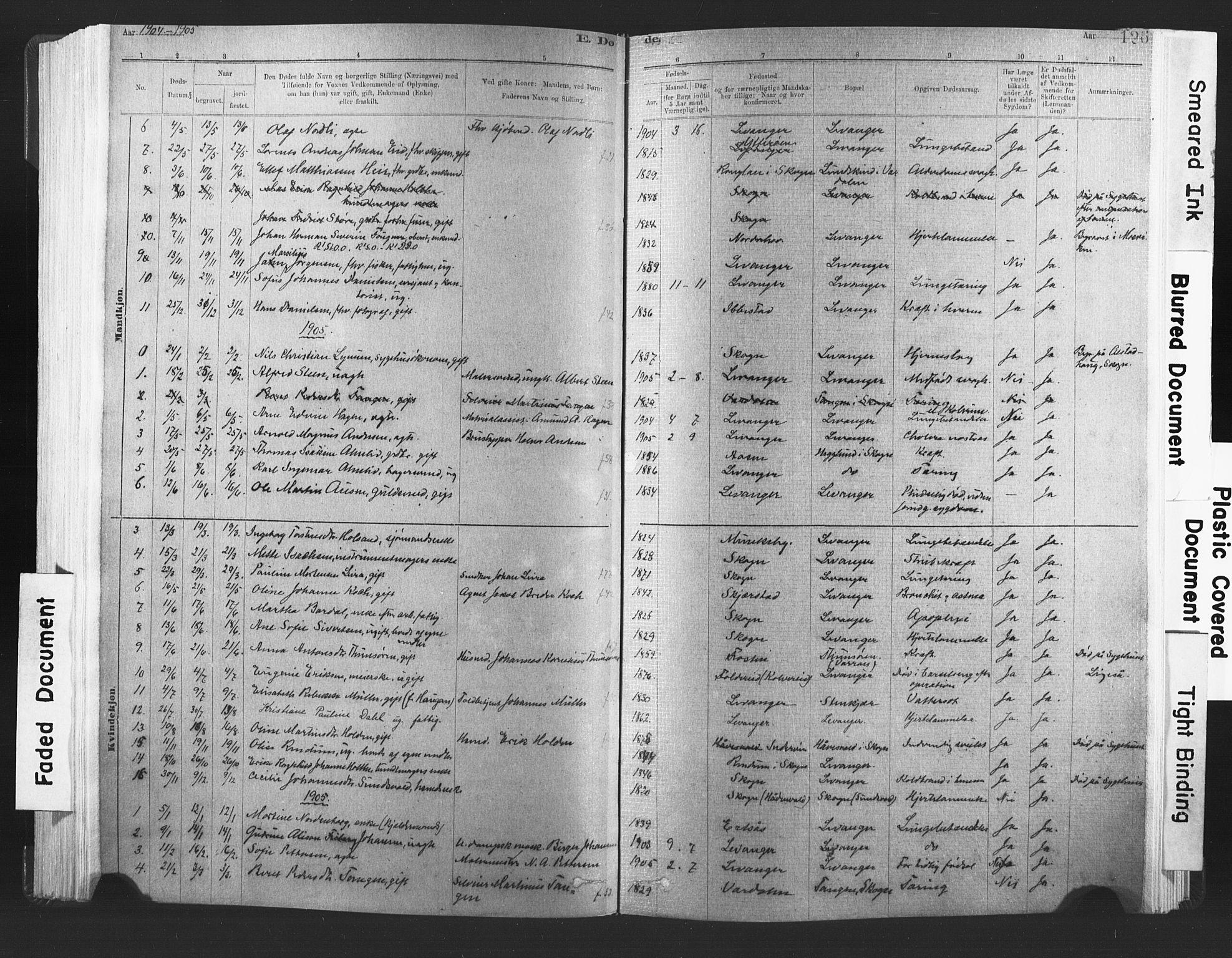 SAT, Ministerialprotokoller, klokkerbøker og fødselsregistre - Nord-Trøndelag, 720/L0189: Ministerialbok nr. 720A05, 1880-1911, s. 126