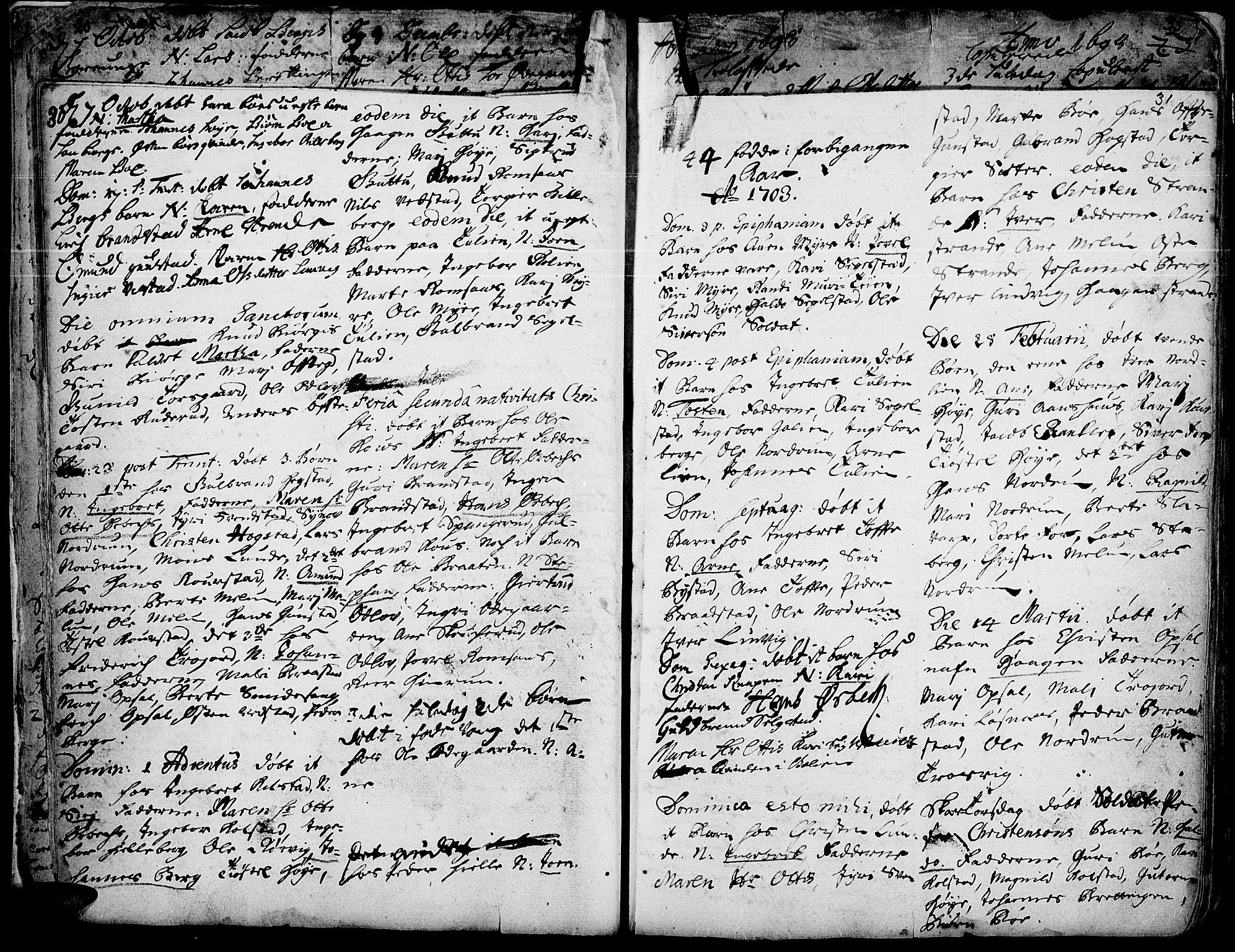 SAH, Ringebu prestekontor, Ministerialbok nr. 1, 1696-1733, s. 30-31