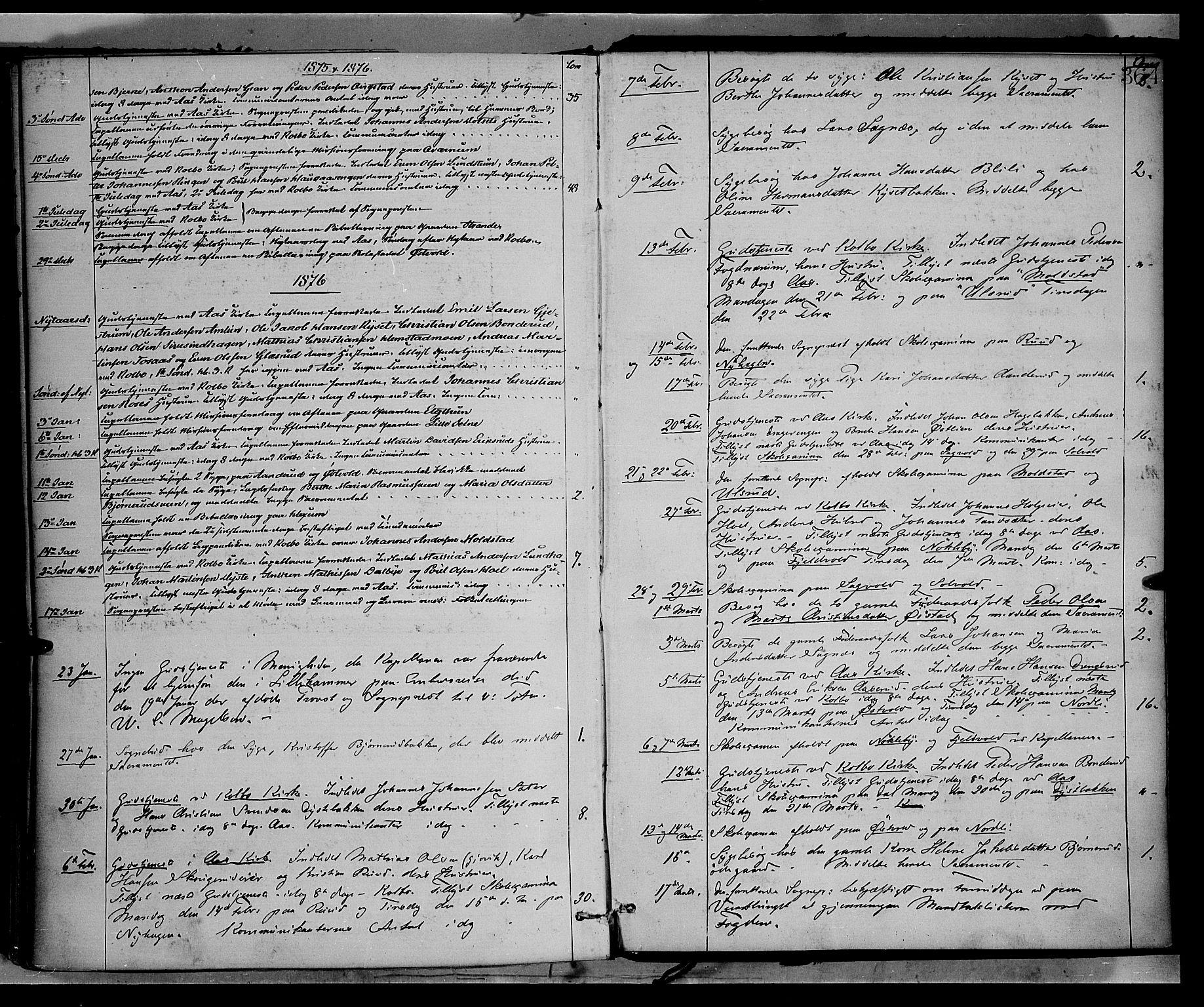 SAH, Vestre Toten prestekontor, Ministerialbok nr. 8, 1870-1877, s. 364