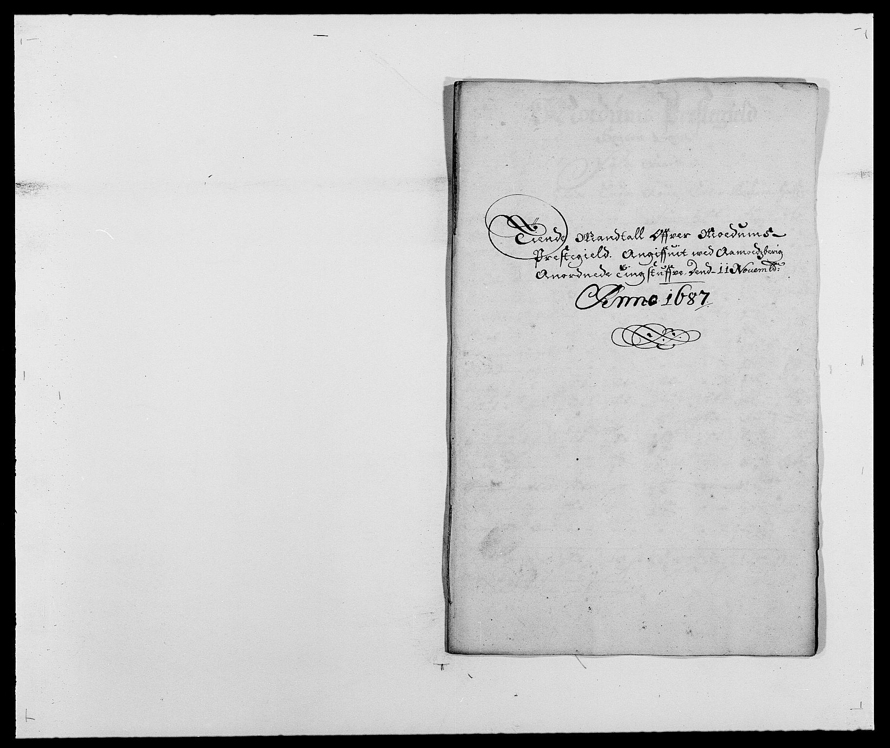 RA, Rentekammeret inntil 1814, Reviderte regnskaper, Fogderegnskap, R25/L1679: Fogderegnskap Buskerud, 1687-1688, s. 44
