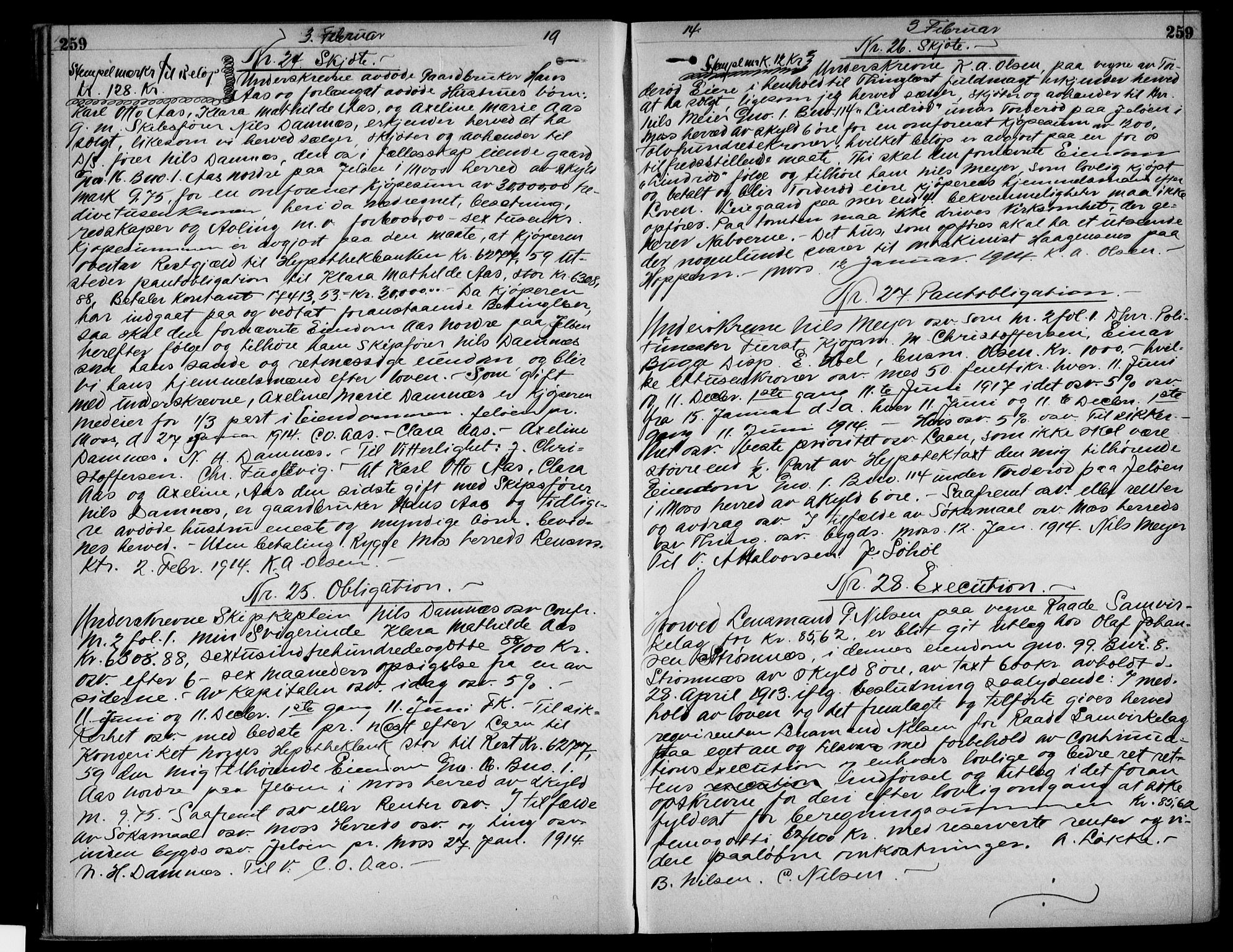 SAO, Moss sorenskriveri, Pantebok nr. 24, 1912-1915, s. 259