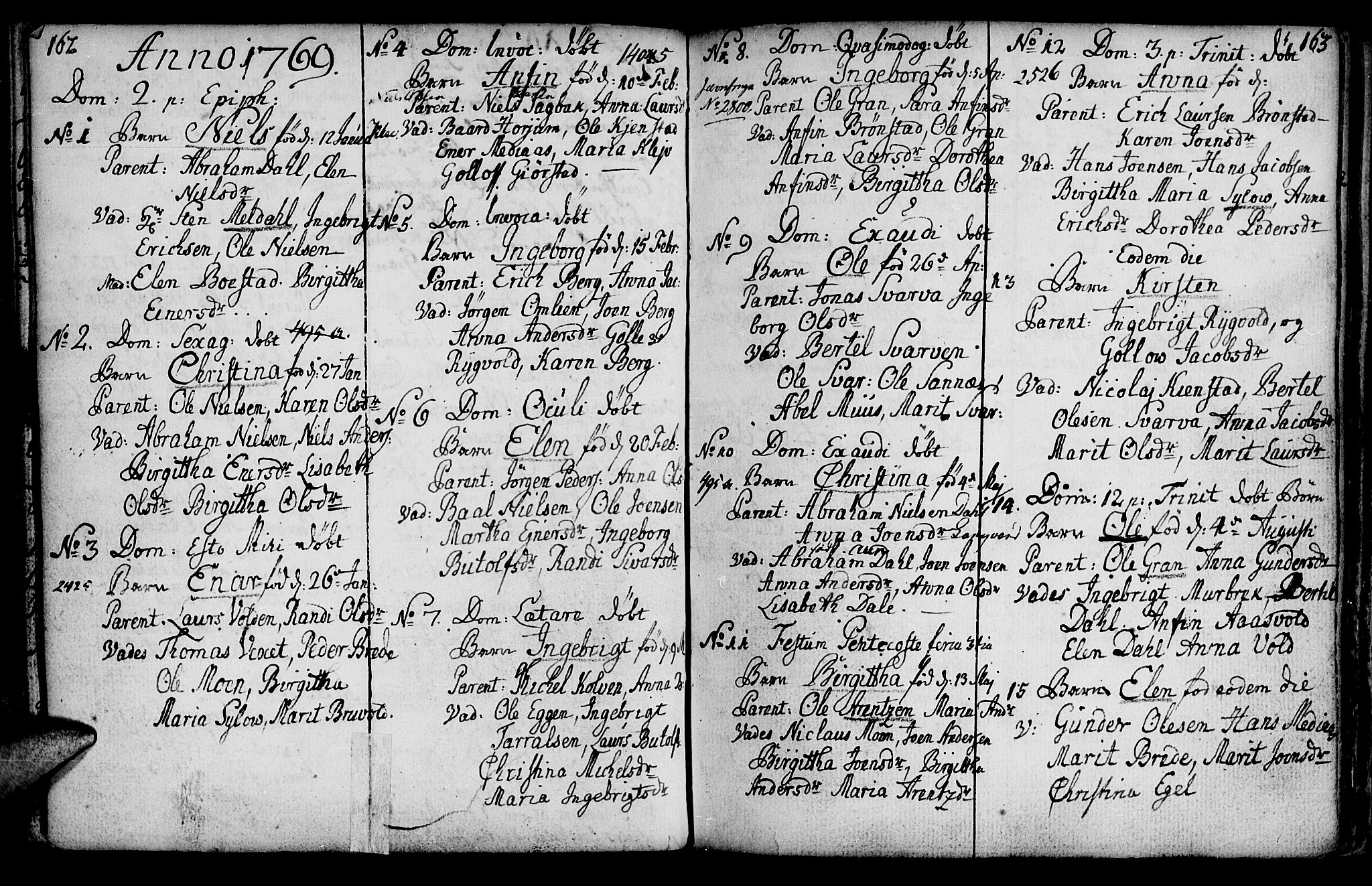 SAT, Ministerialprotokoller, klokkerbøker og fødselsregistre - Nord-Trøndelag, 749/L0467: Ministerialbok nr. 749A01, 1733-1787, s. 162-163