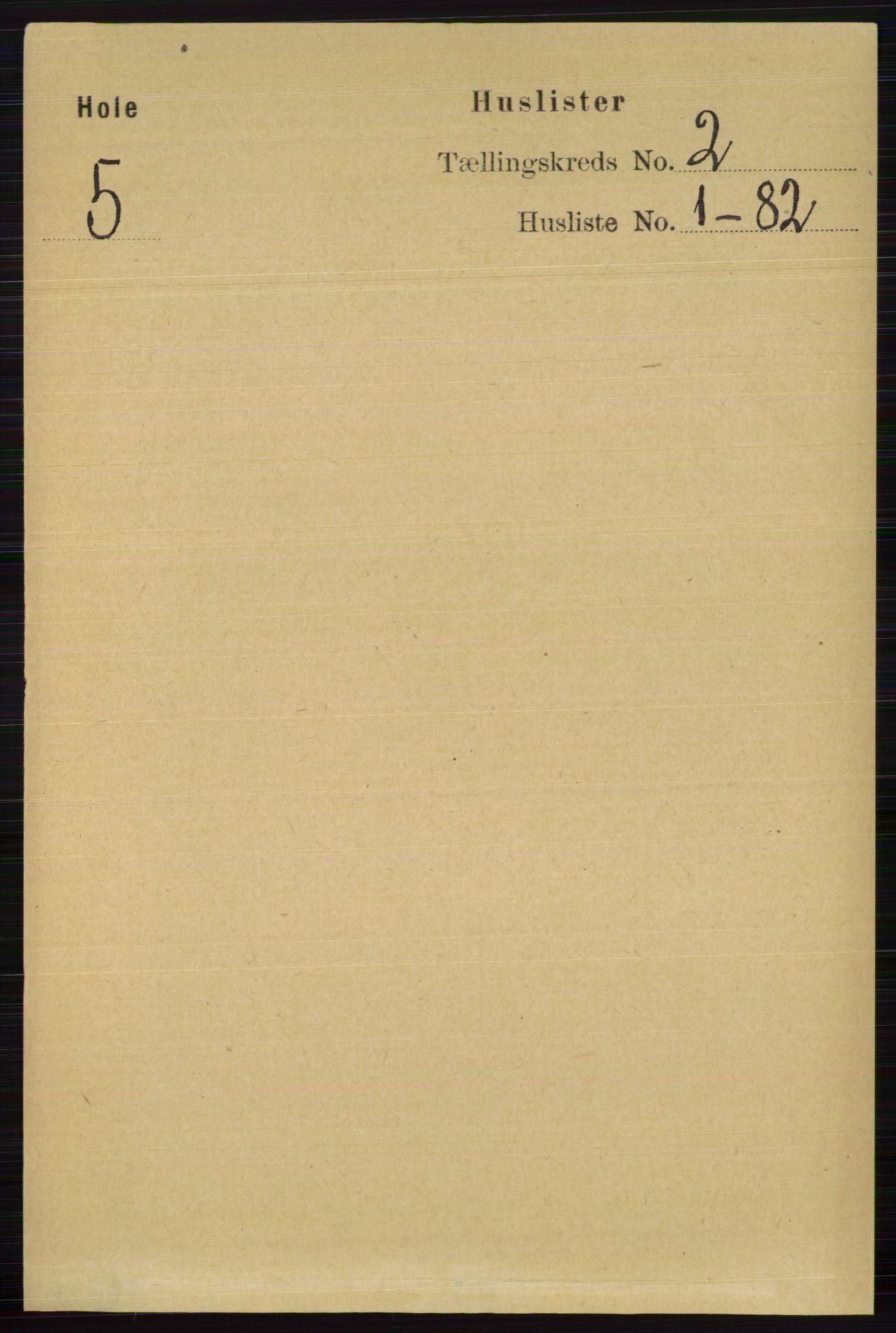 RA, Folketelling 1891 for 0612 Hole herred, 1891, s. 652