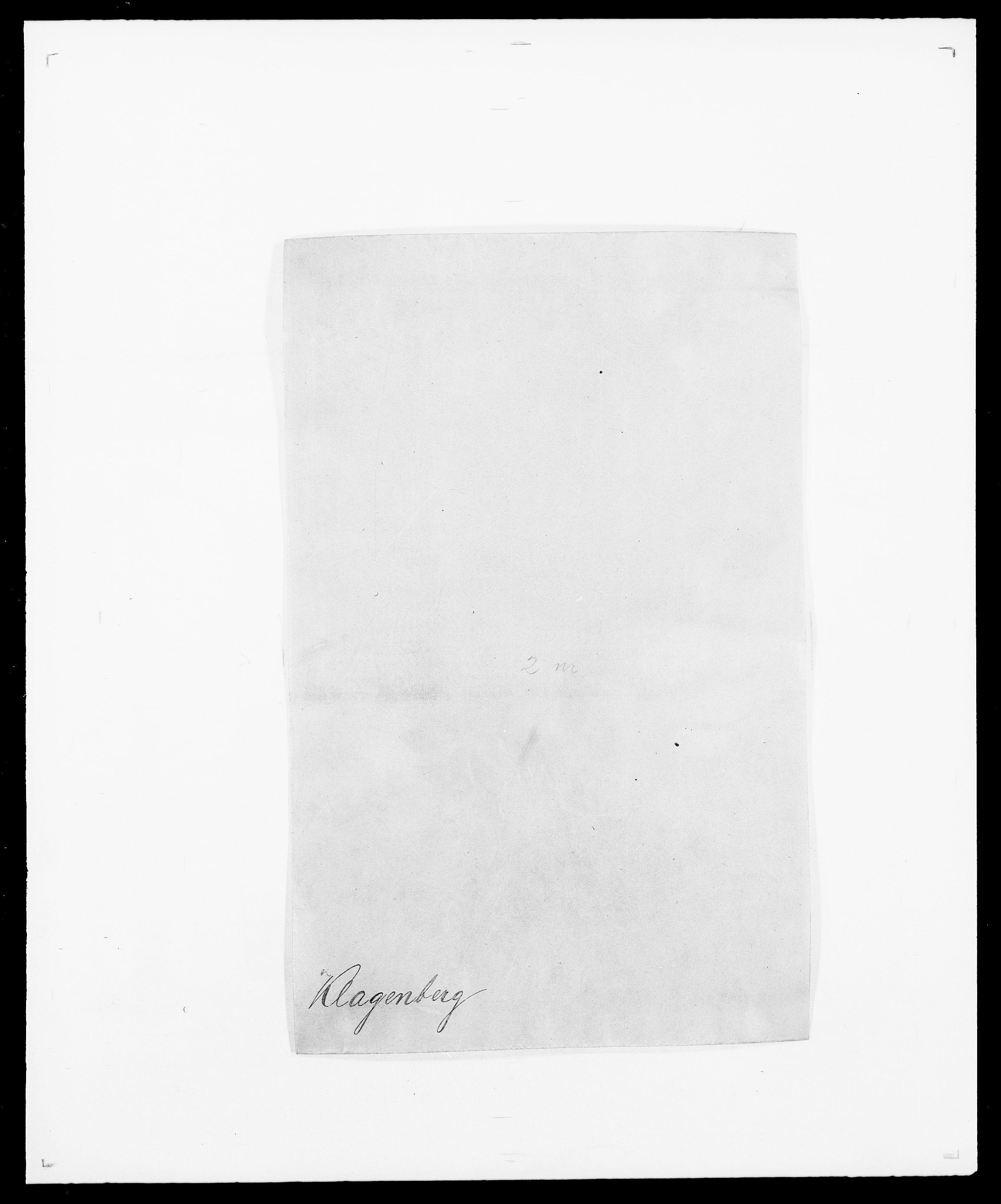 SAO, Delgobe, Charles Antoine - samling, D/Da/L0021: Klagenberg - Kristoft, s. 1