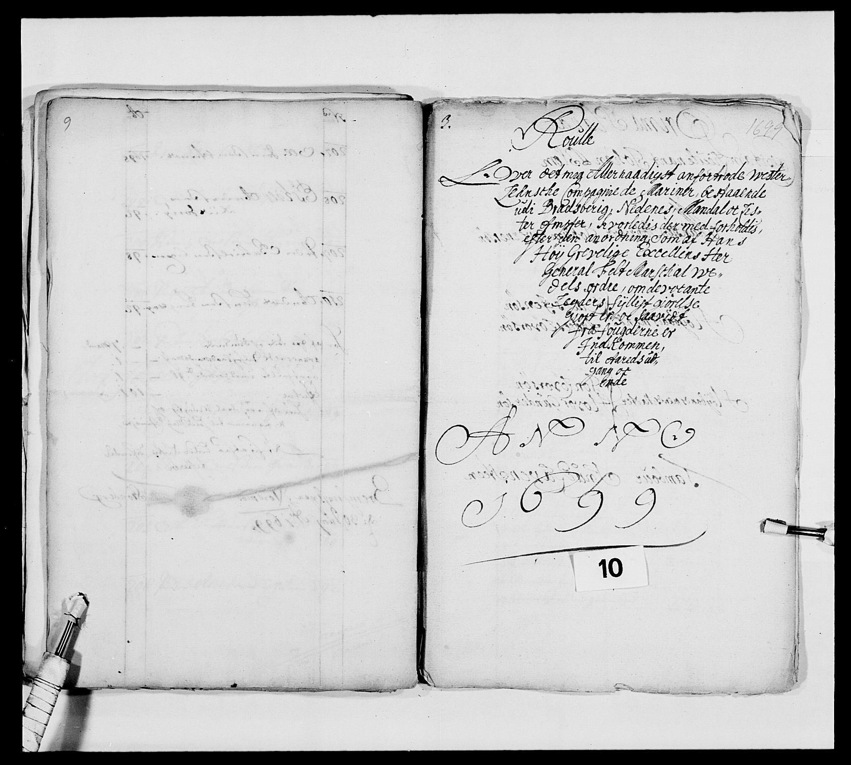 RA, Kommanderende general (KG I) med Det norske krigsdirektorium, E/Ea/L0473: Marineregimentet, 1664-1700, s. 178