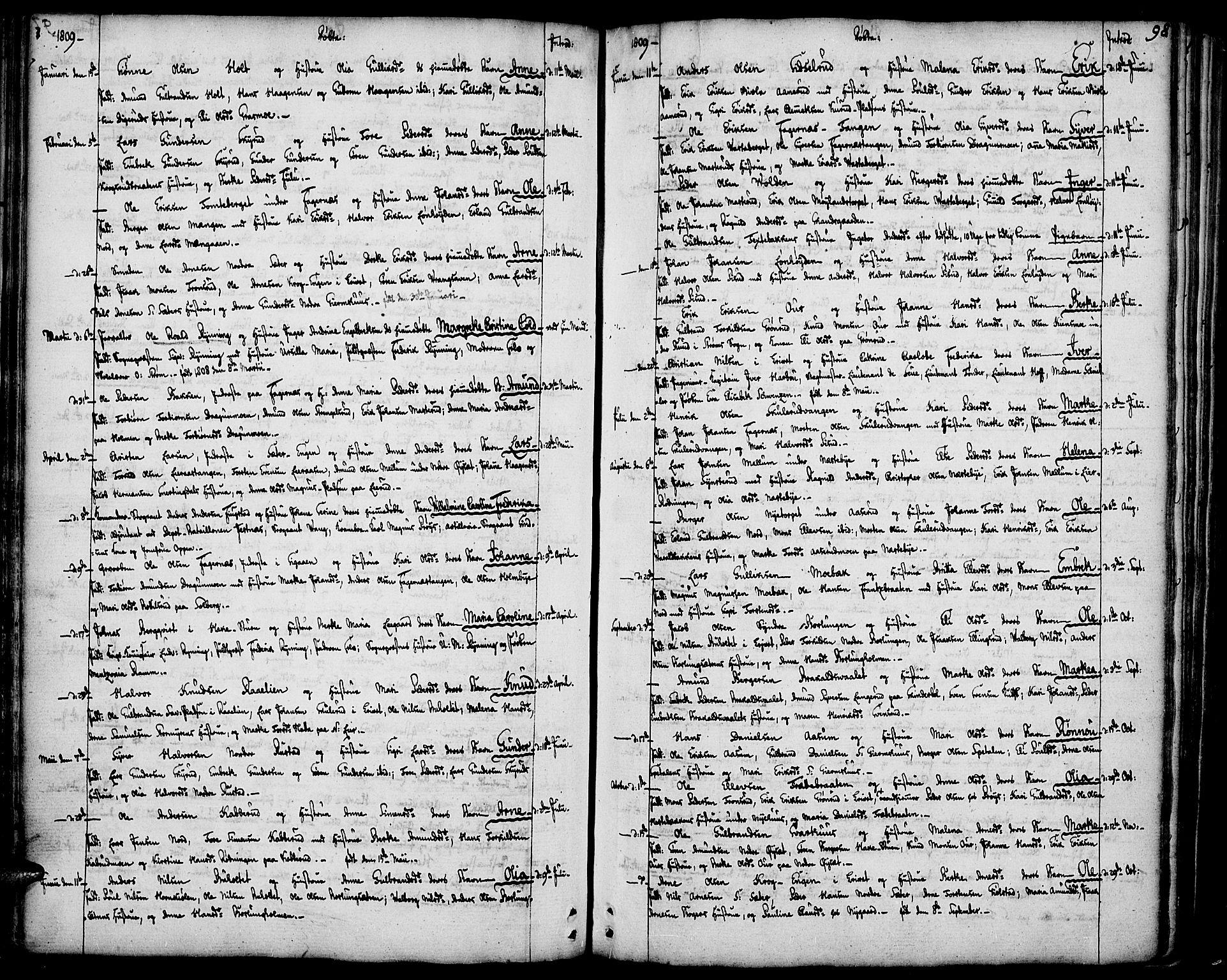 SAH, Vinger prestekontor, Ministerialbok nr. 5, 1772-1813, s. 98