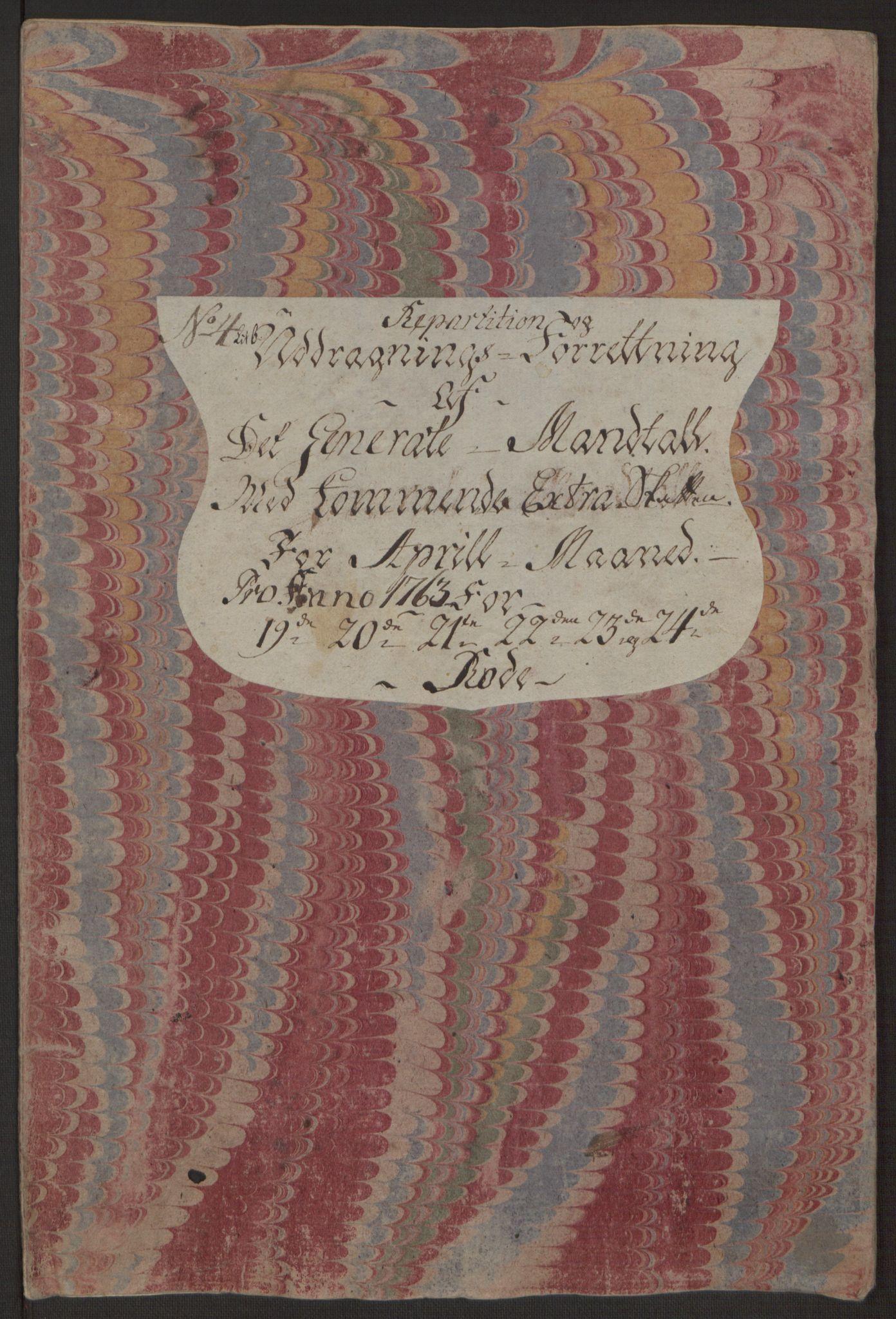 RA, Rentekammeret inntil 1814, Reviderte regnskaper, Byregnskaper, R/Rp/L0366: [P20] Kontribusjonsregnskap, 1763, s. 226
