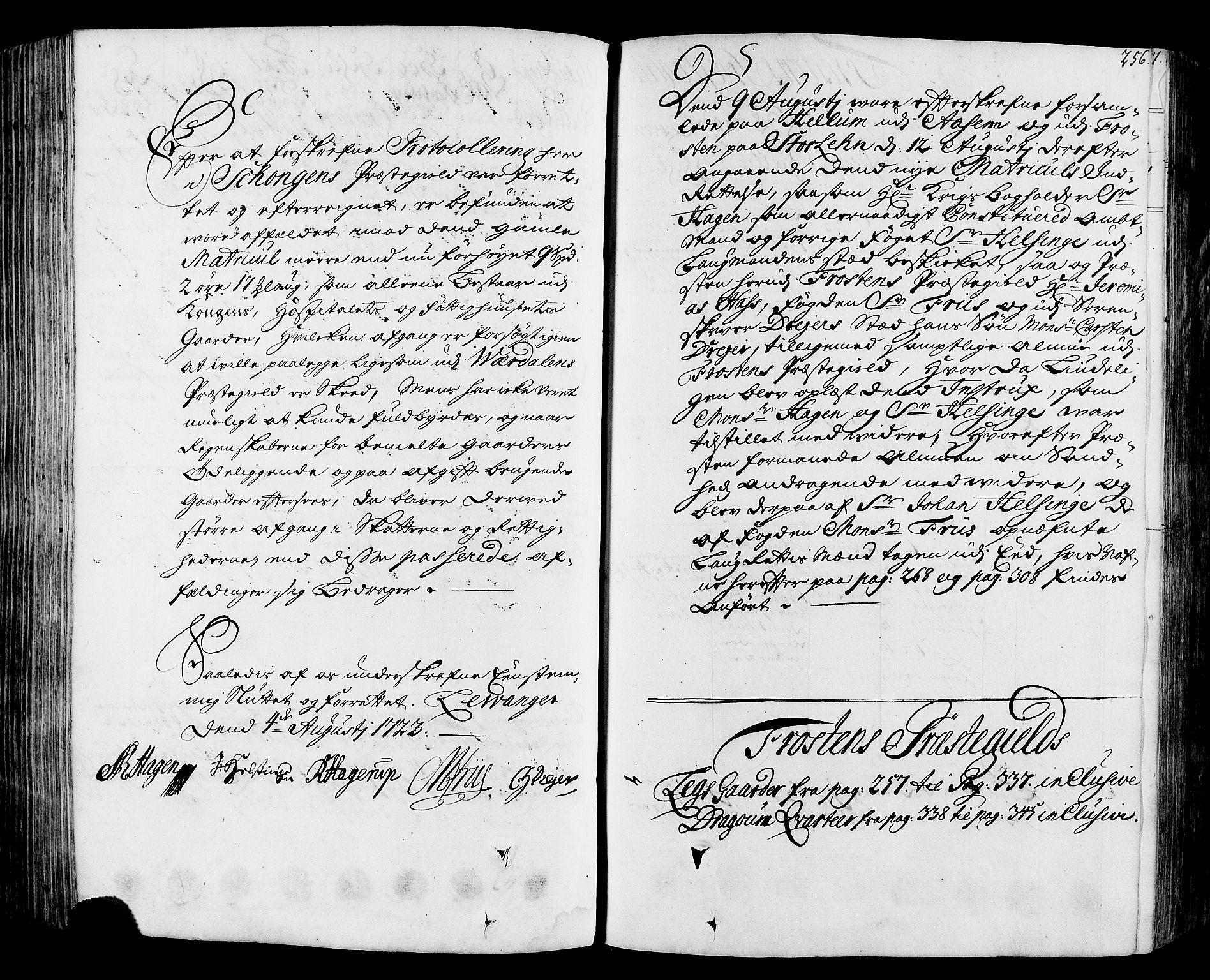 RA, Rentekammeret inntil 1814, Realistisk ordnet avdeling, N/Nb/Nbf/L0164: Stjørdal og Verdal eksaminasjonsprotokoll, 1723, s. 255b-256a