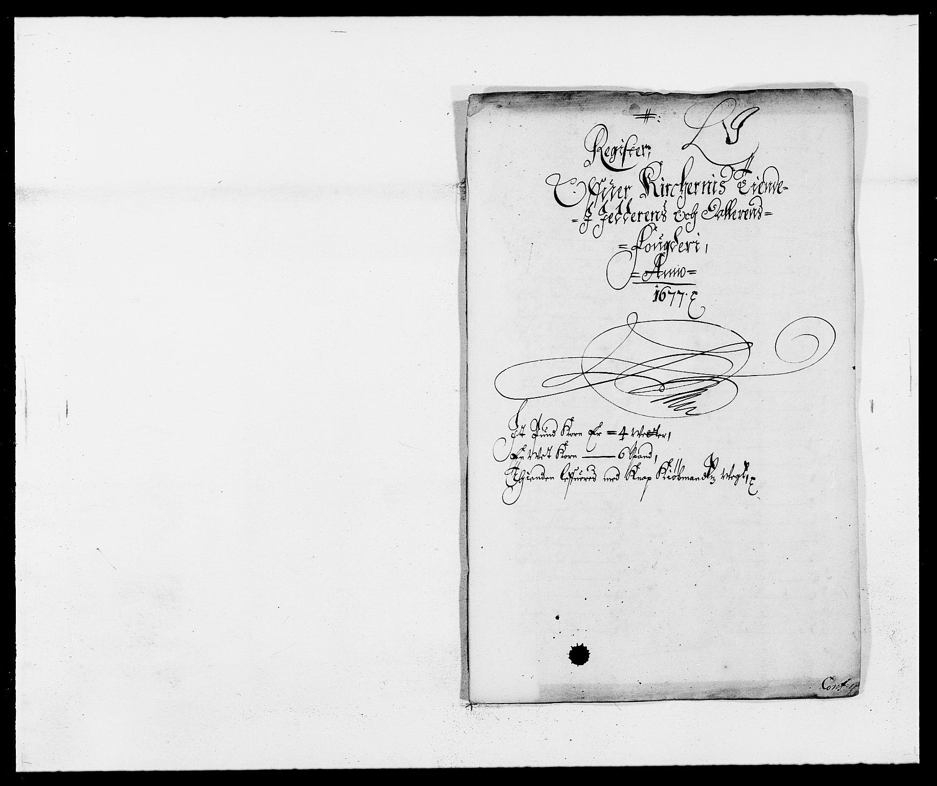 RA, Rentekammeret inntil 1814, Reviderte regnskaper, Fogderegnskap, R46/L2717: Fogderegnskap Jæren og Dalane, 1677, s. 261