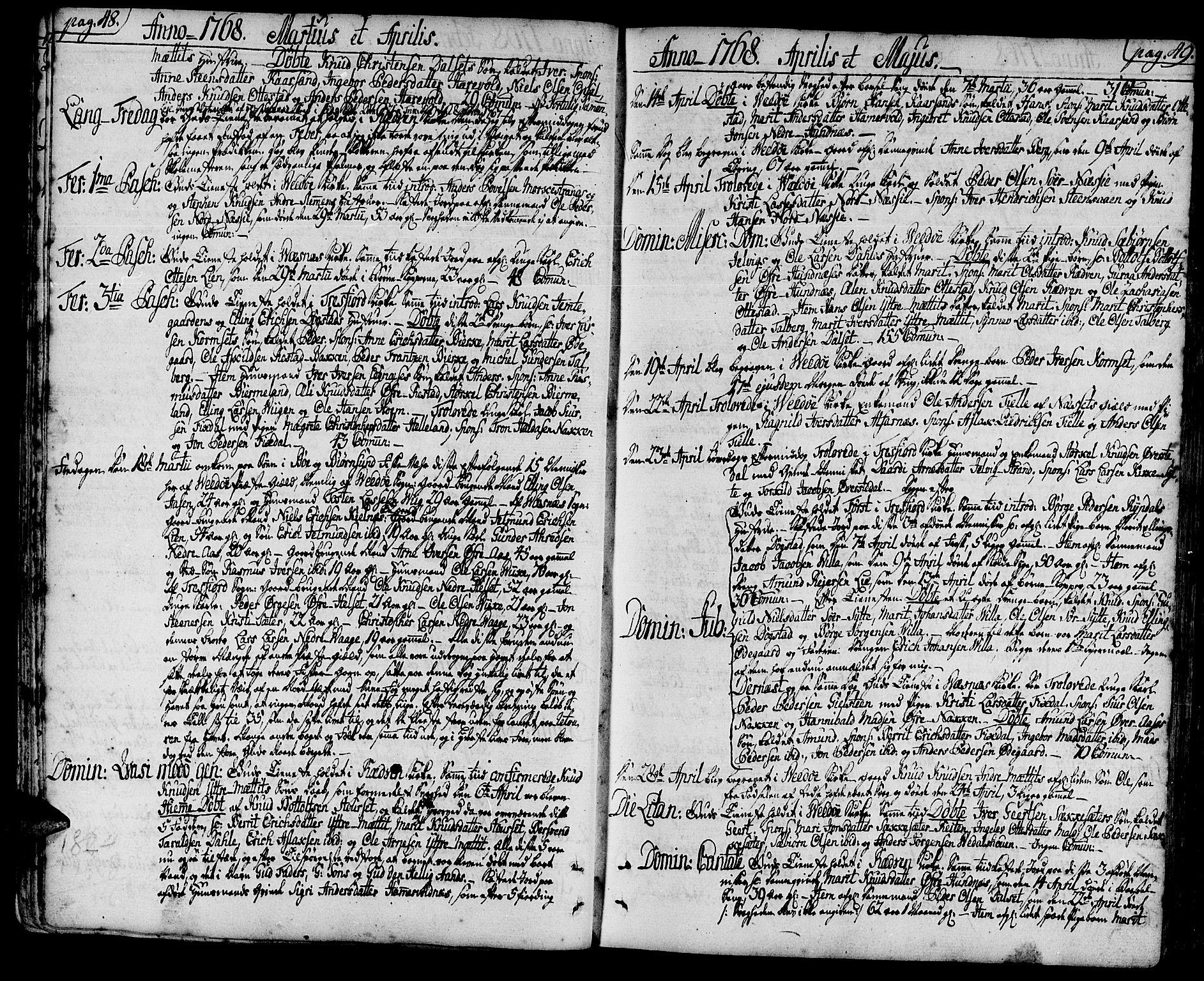 SAT, Ministerialprotokoller, klokkerbøker og fødselsregistre - Møre og Romsdal, 547/L0600: Ministerialbok nr. 547A02, 1765-1799, s. 48-49