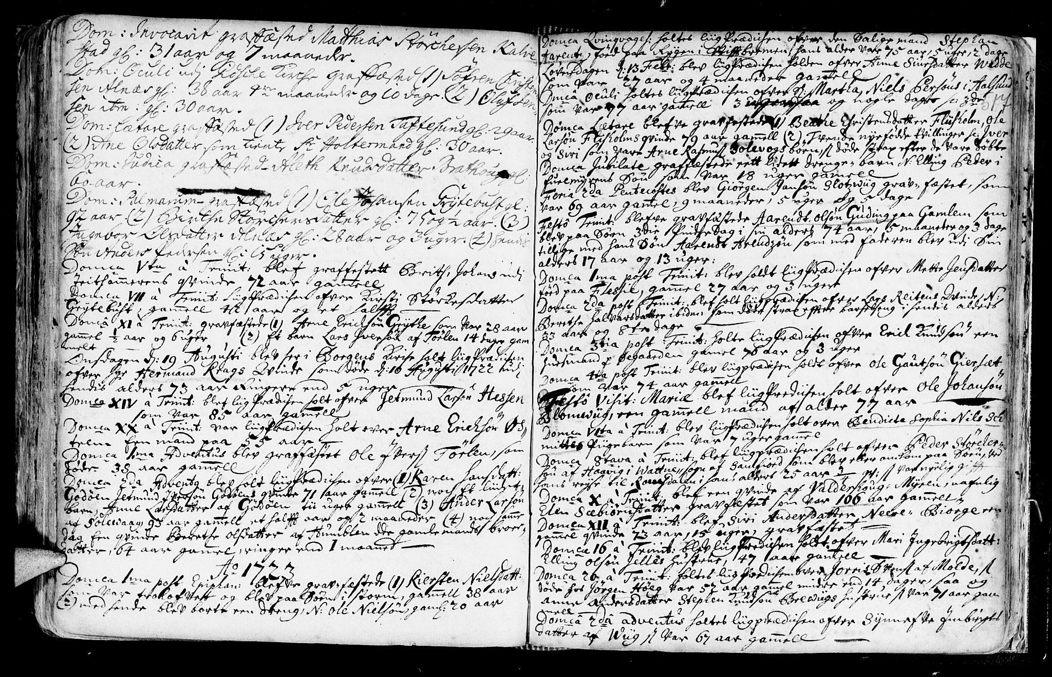 SAT, Ministerialprotokoller, klokkerbøker og fødselsregistre - Møre og Romsdal, 528/L0390: Ministerialbok nr. 528A01, 1698-1739, s. 516-517