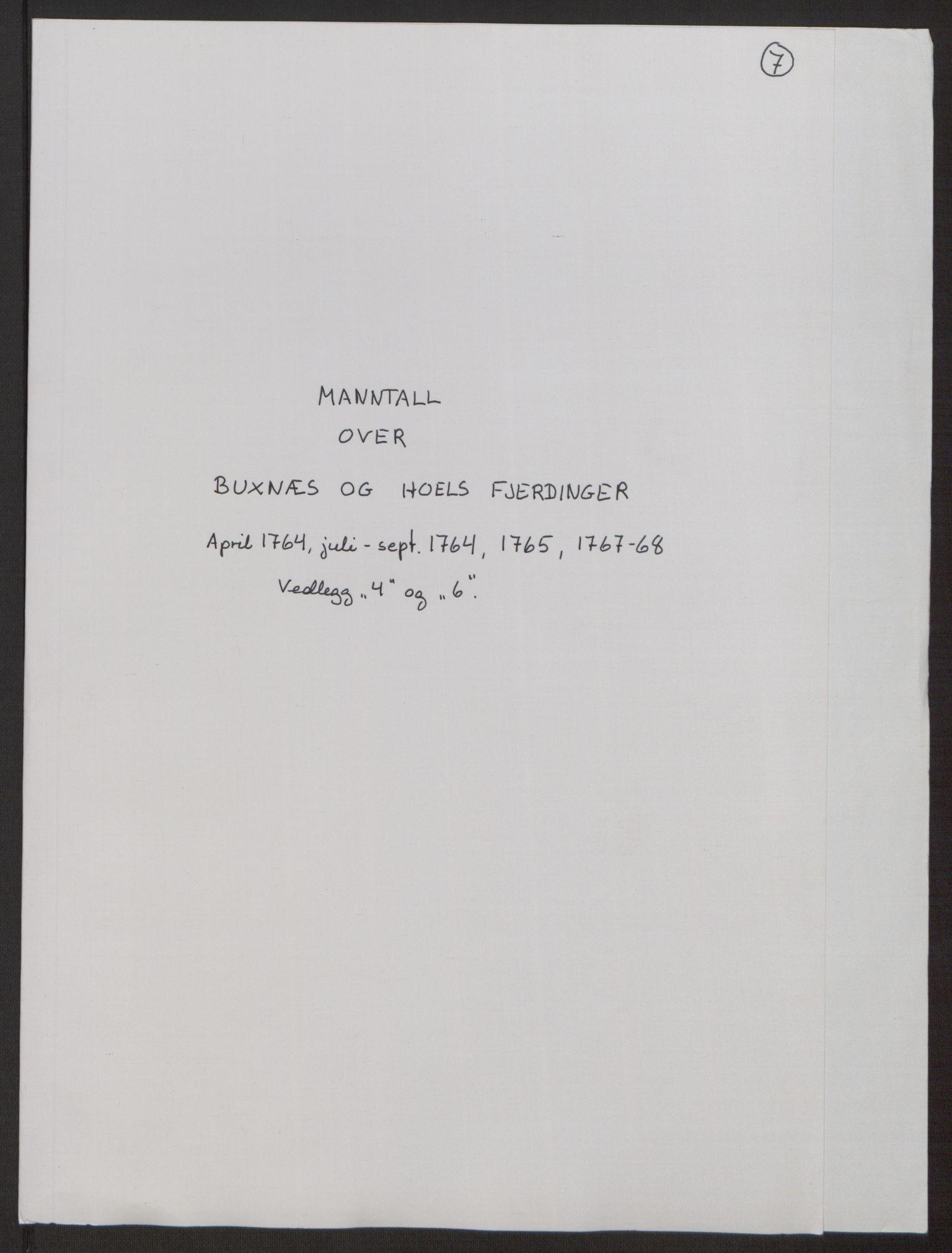 RA, Rentekammeret inntil 1814, Realistisk ordnet avdeling, Ol/L0022a: [Gg 10]: Ekstraskatten, 23.09.1762. Nordlands amt, 1763-1769, s. 250
