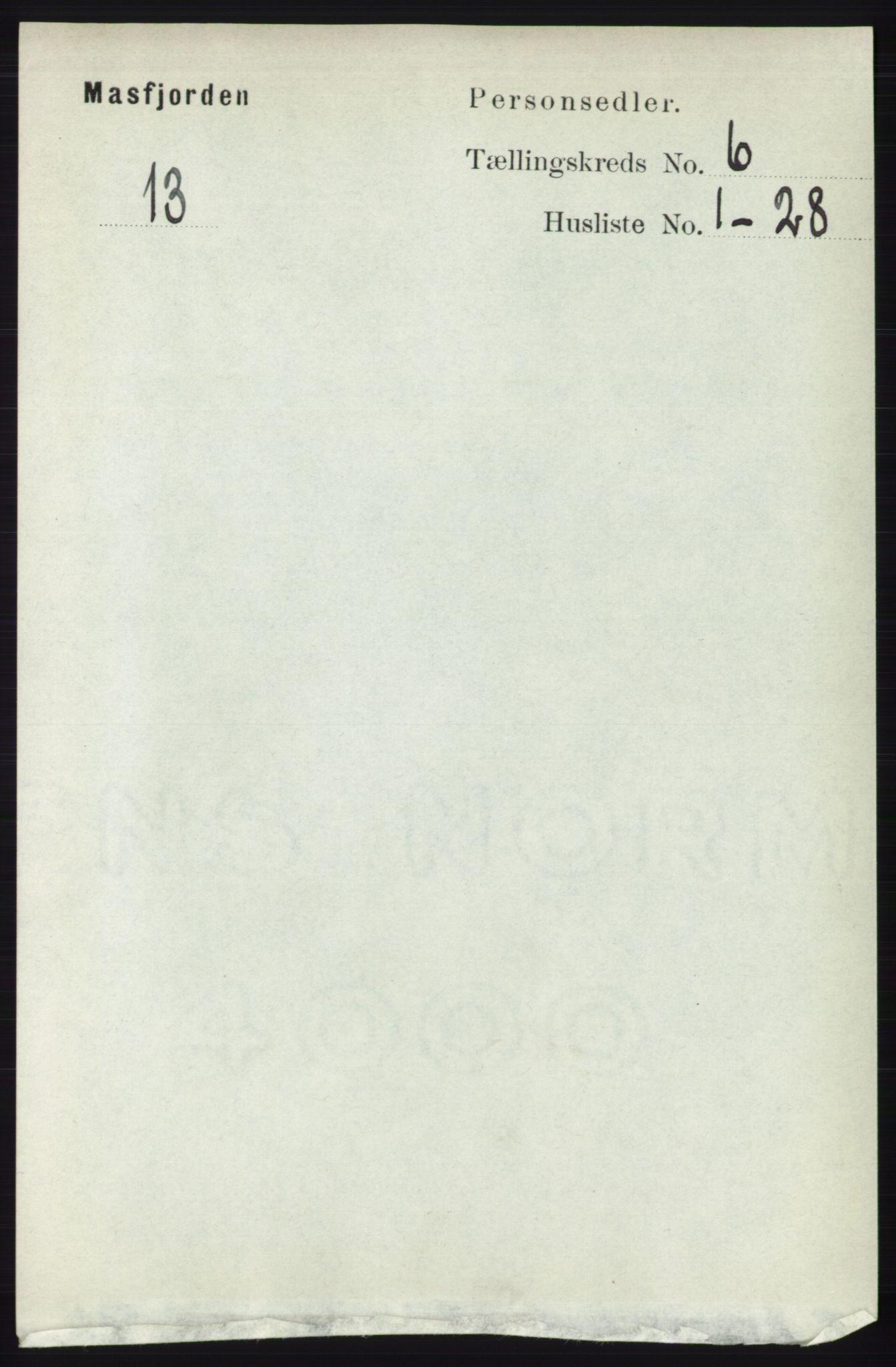 RA, Folketelling 1891 for 1266 Masfjorden herred, 1891, s. 951