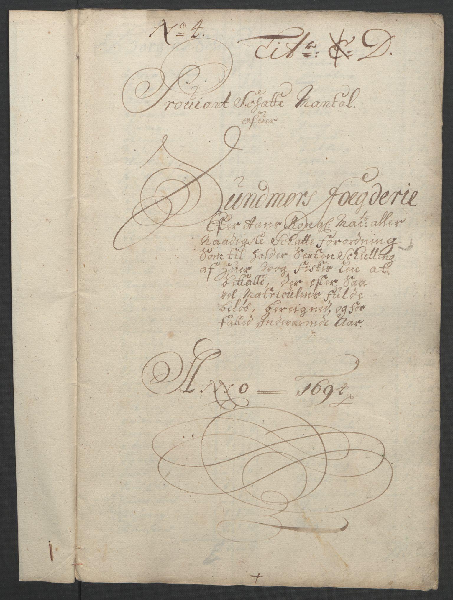 RA, Rentekammeret inntil 1814, Reviderte regnskaper, Fogderegnskap, R54/L3555: Fogderegnskap Sunnmøre, 1694-1695, s. 109