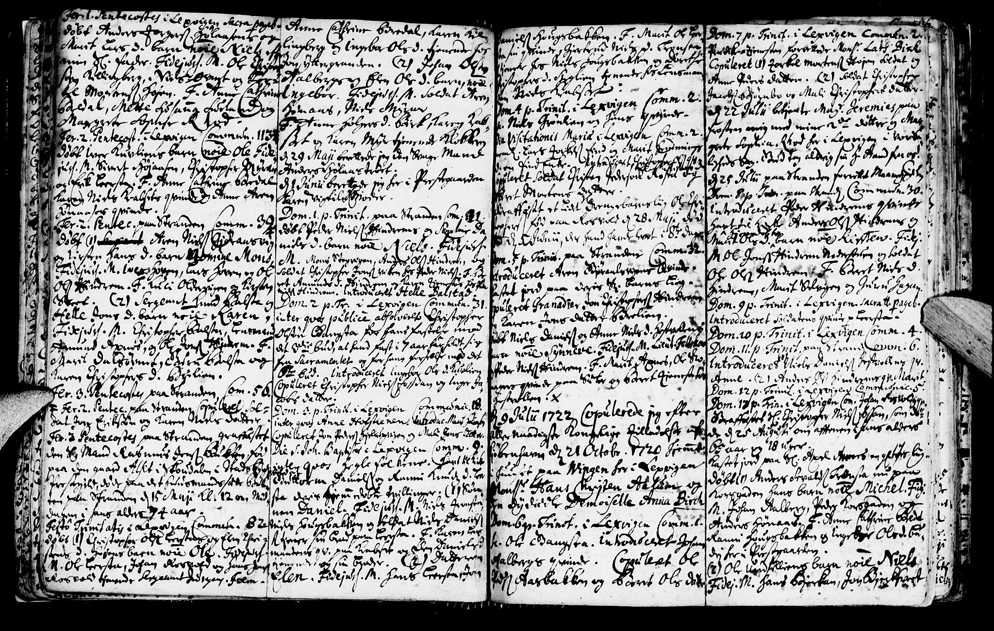 SAT, Ministerialprotokoller, klokkerbøker og fødselsregistre - Nord-Trøndelag, 701/L0001: Ministerialbok nr. 701A01, 1717-1731, s. 18