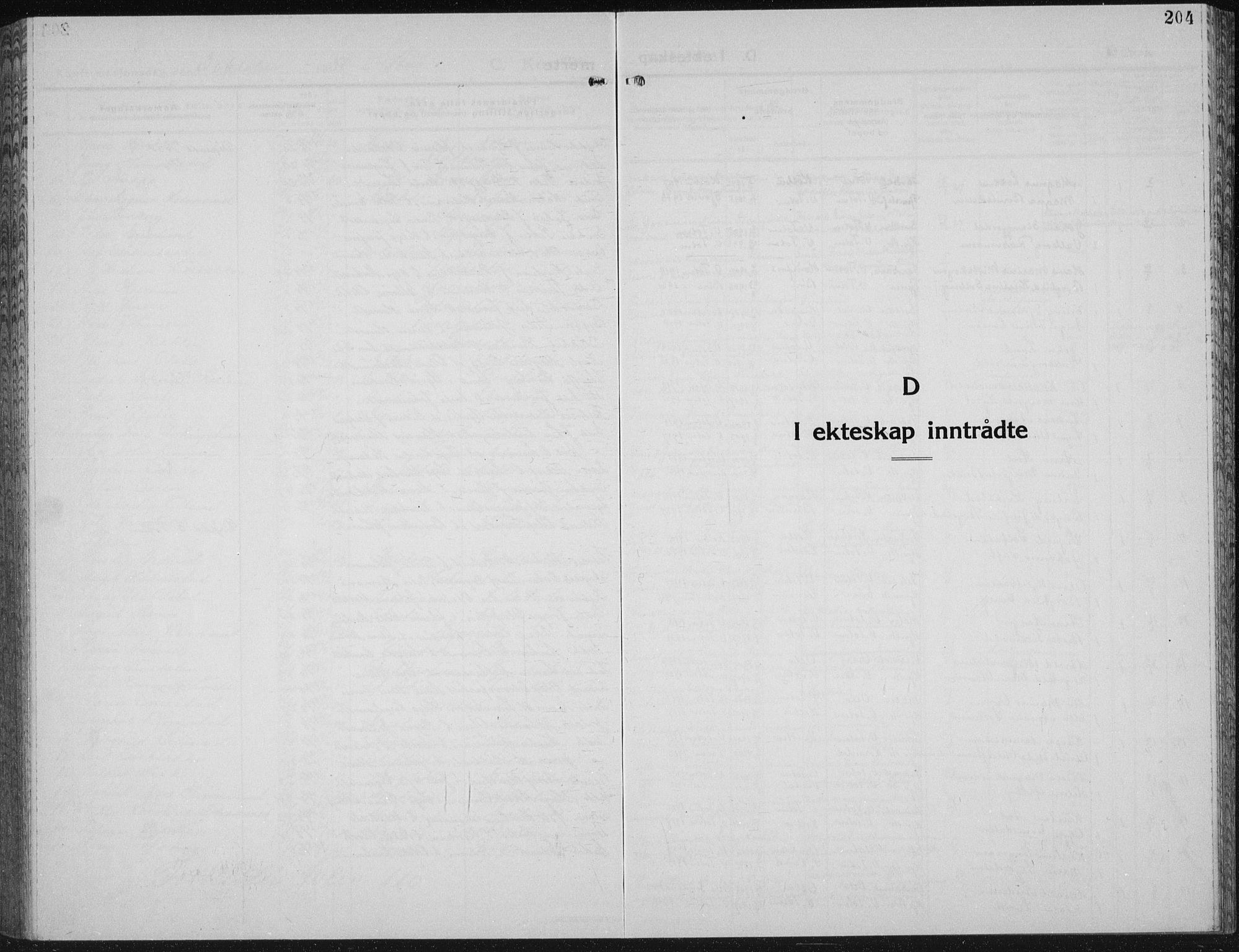 SAH, Vestre Toten prestekontor, H/Ha/Hab/L0018: Klokkerbok nr. 18, 1928-1941, s. 204