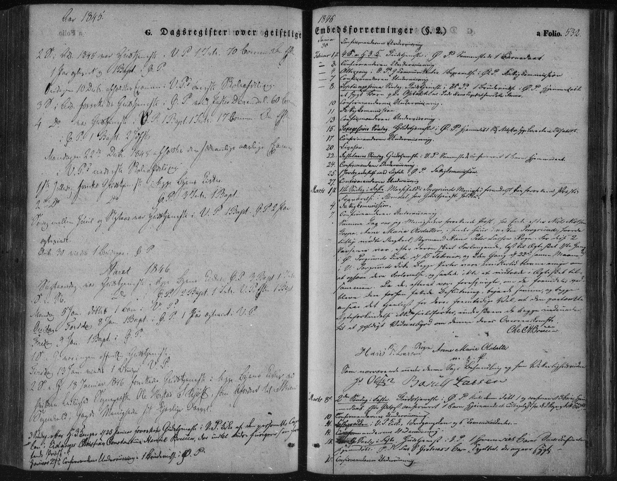 SAKO, Porsgrunn kirkebøker , F/Fa/L0006: Ministerialbok nr. 6, 1841-1857, s. 532