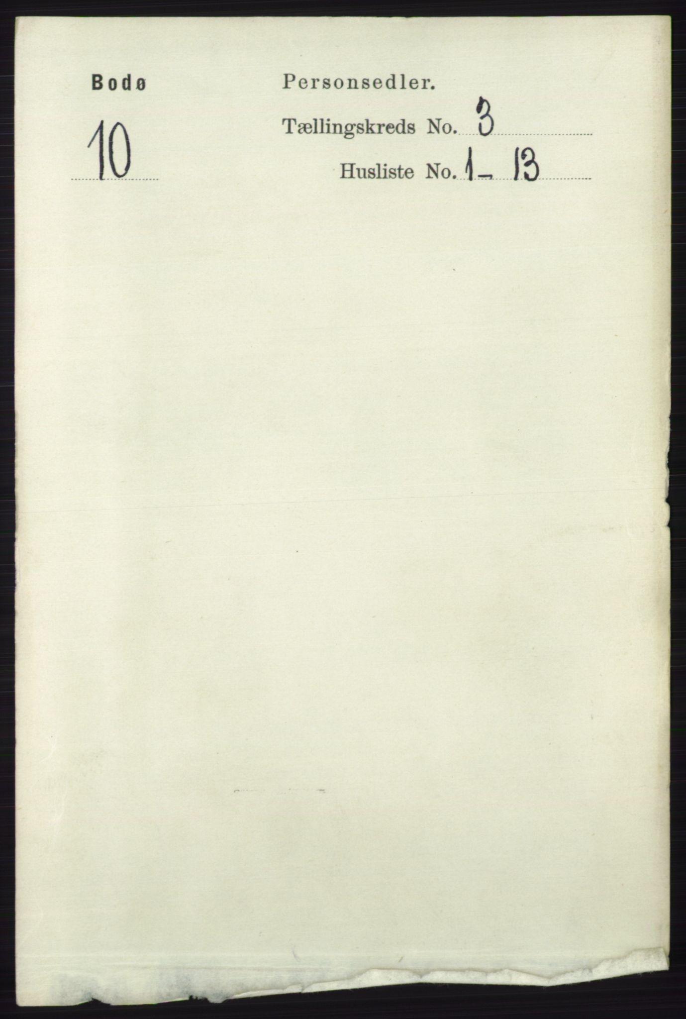 RA, Folketelling 1891 for 1804 Bodø kjøpstad, 1891, s. 2011