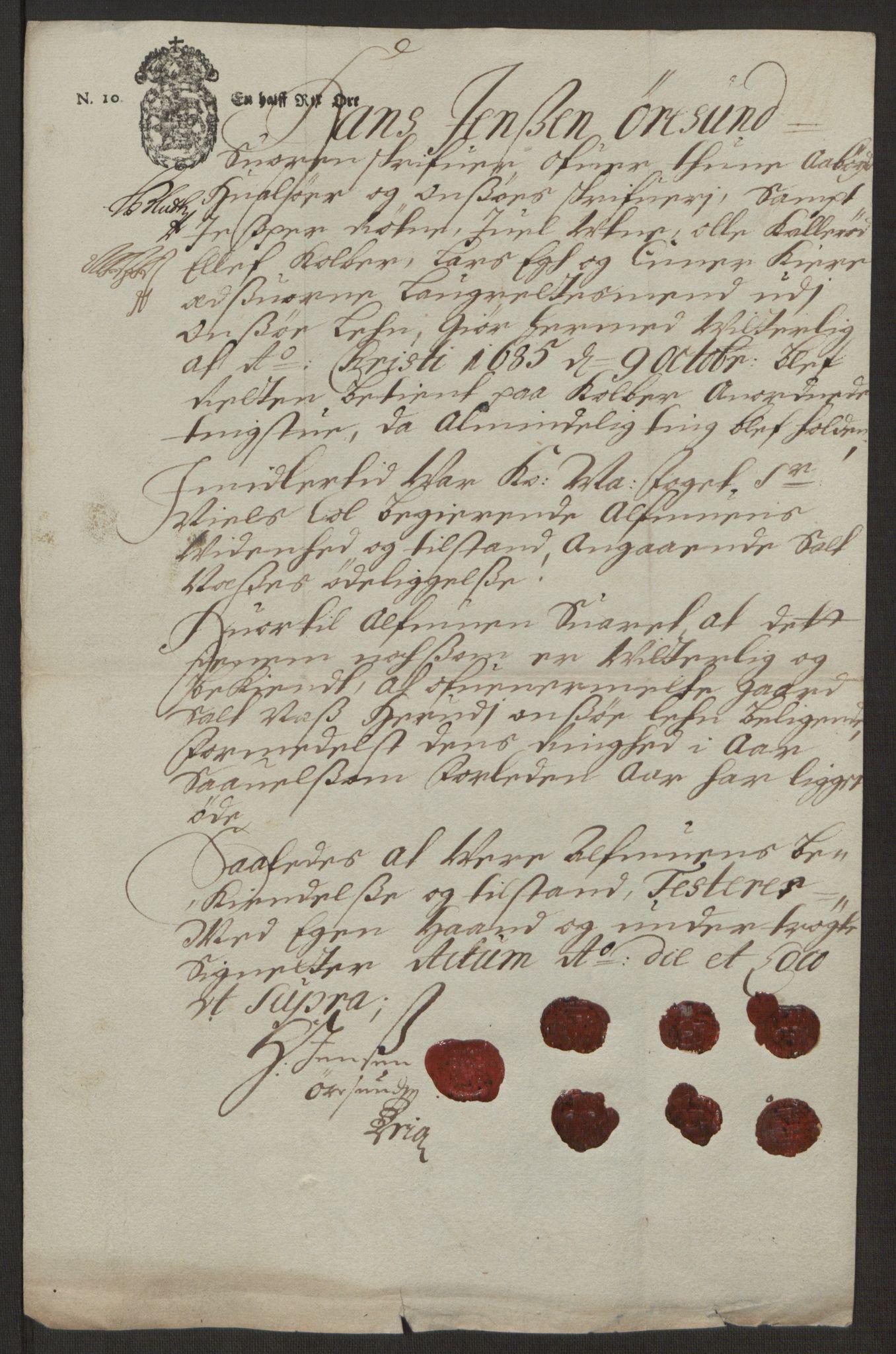 RA, Rentekammeret inntil 1814, Reviderte regnskaper, Fogderegnskap, R03/L0118: Fogderegnskap Onsøy, Tune, Veme og Åbygge fogderi, 1684-1689, s. 183