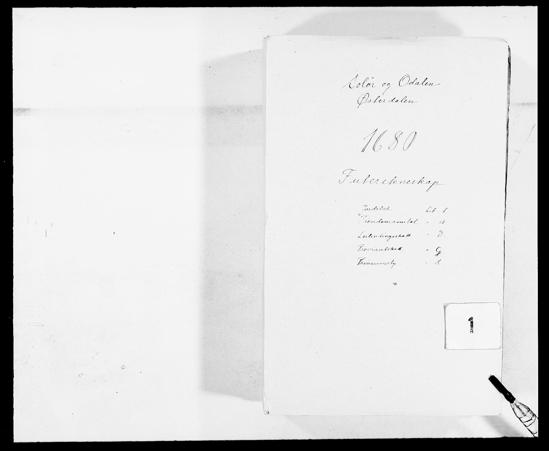 RA, Rentekammeret inntil 1814, Reviderte regnskaper, Fogderegnskap, R13/L0817: Fogderegnskap Solør, Odal og Østerdal, 1680, s. 1