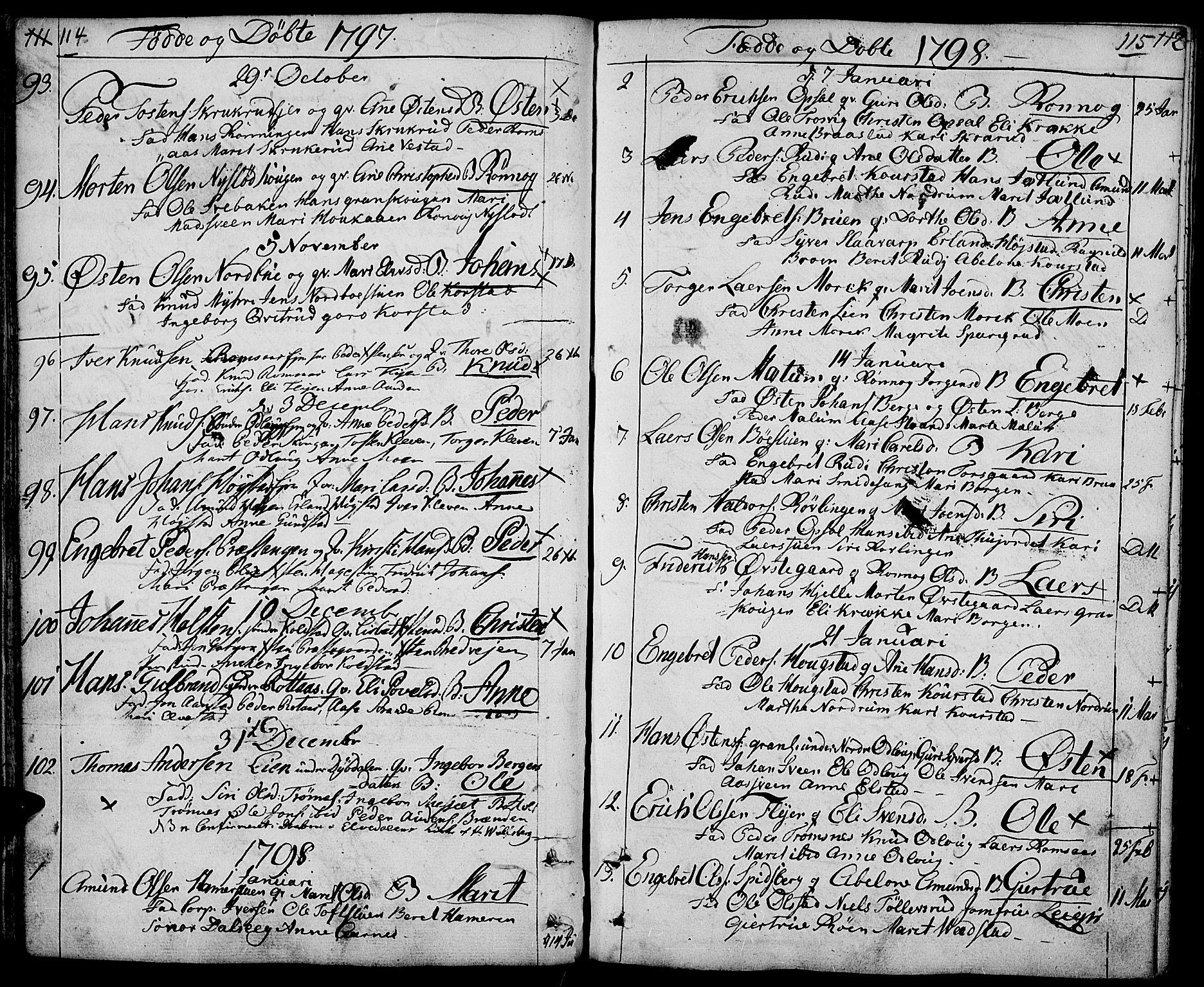 SAH, Ringebu prestekontor, Ministerialbok nr. 3, 1781-1820, s. 114-115