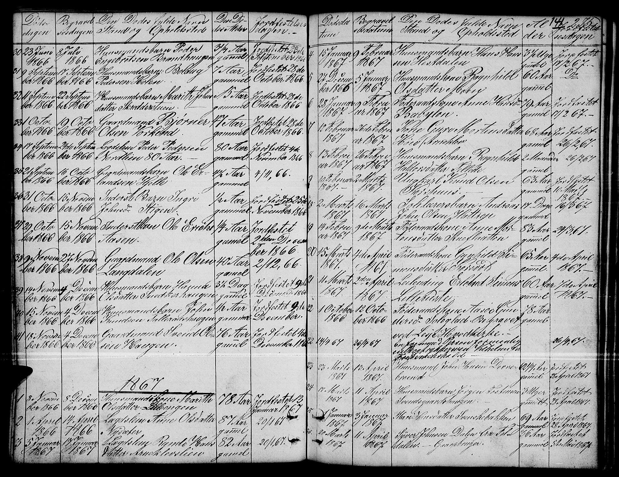 SAH, Dovre prestekontor, Klokkerbok nr. 1, 1862-1880, s. 275