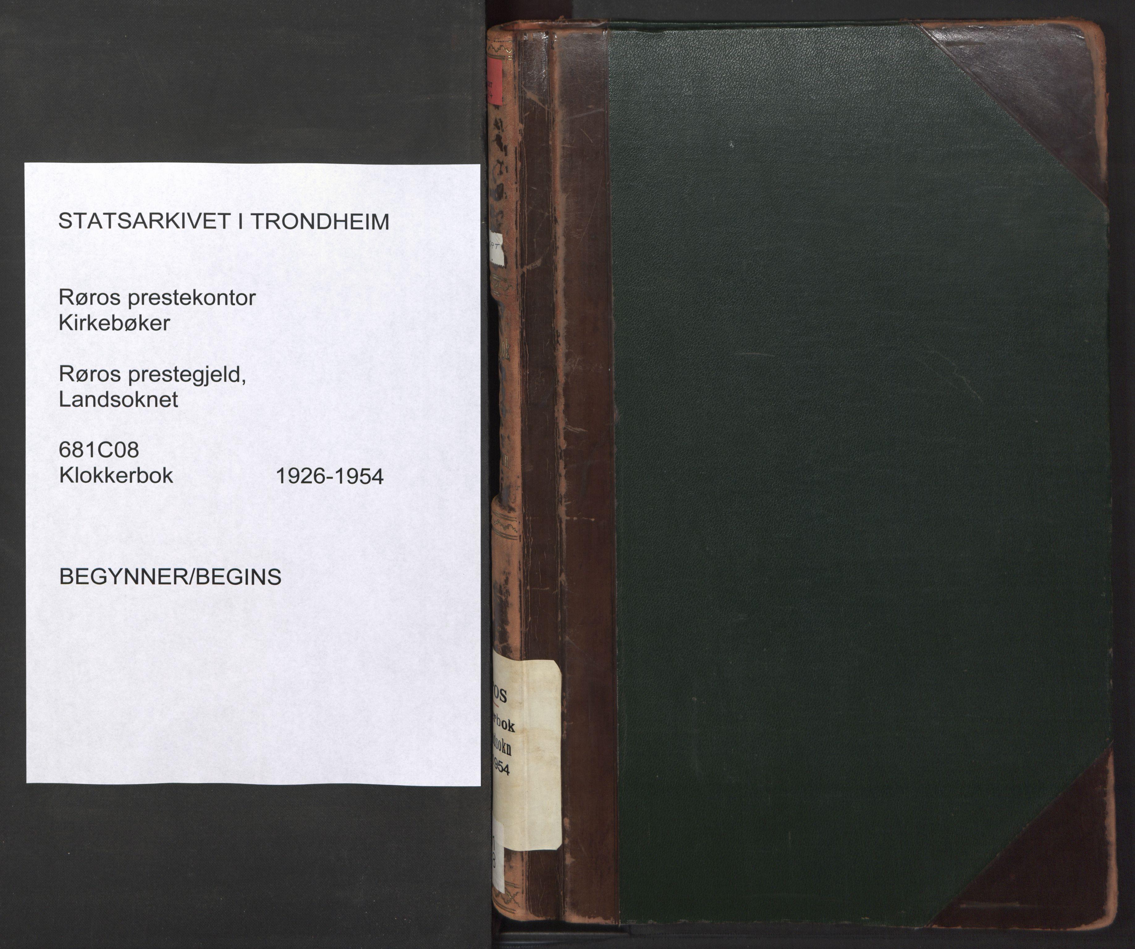 SAT, Ministerialprotokoller, klokkerbøker og fødselsregistre - Sør-Trøndelag, 681/L0944: Klokkerbok nr. 681C08, 1926-1954