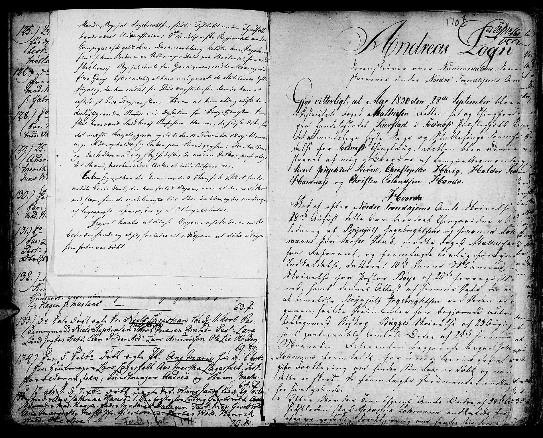 SAT, Ministerialprotokoller, klokkerbøker og fødselsregistre - Sør-Trøndelag, 601/L0039: Ministerialbok nr. 601A07, 1770-1819, s. 170f