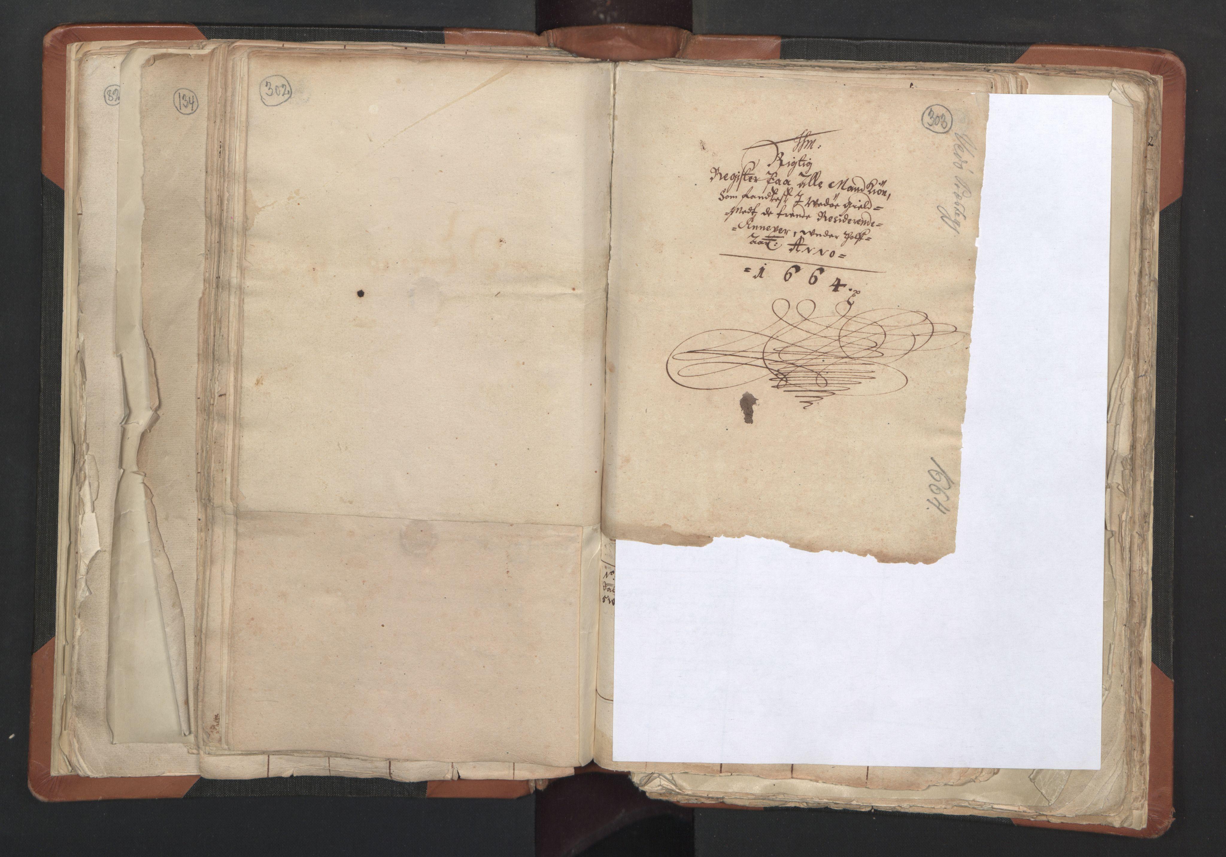 RA, Sogneprestenes manntall 1664-1666, nr. 27: Romsdal prosti, 1664-1666, s. 302-303