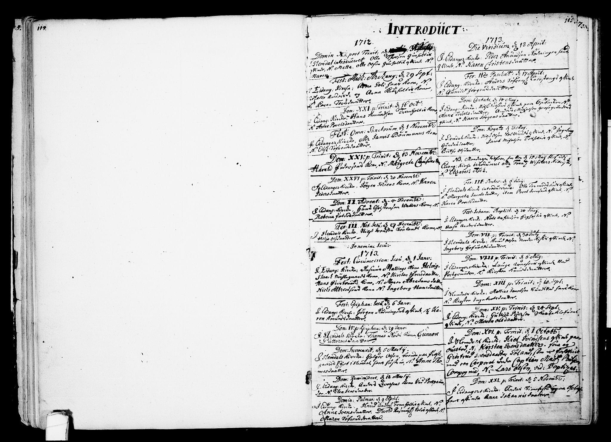 SAKO, Eidanger kirkebøker, F/Fa/L0002: Ministerialbok nr. 2, 1712-1720, s. 114-115