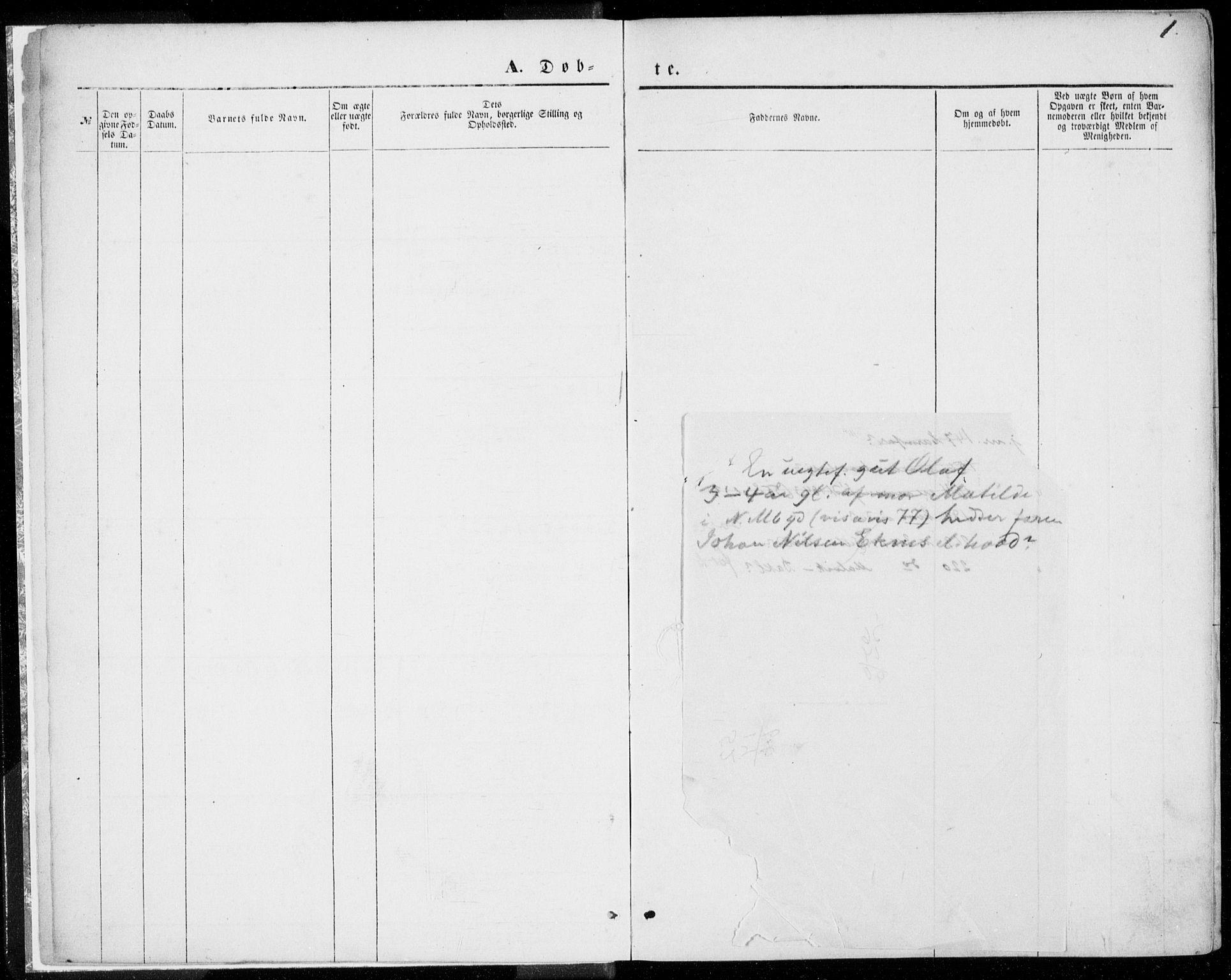 SAT, Ministerialprotokoller, klokkerbøker og fødselsregistre - Møre og Romsdal, 557/L0681: Ministerialbok nr. 557A03, 1869-1886, s. 1