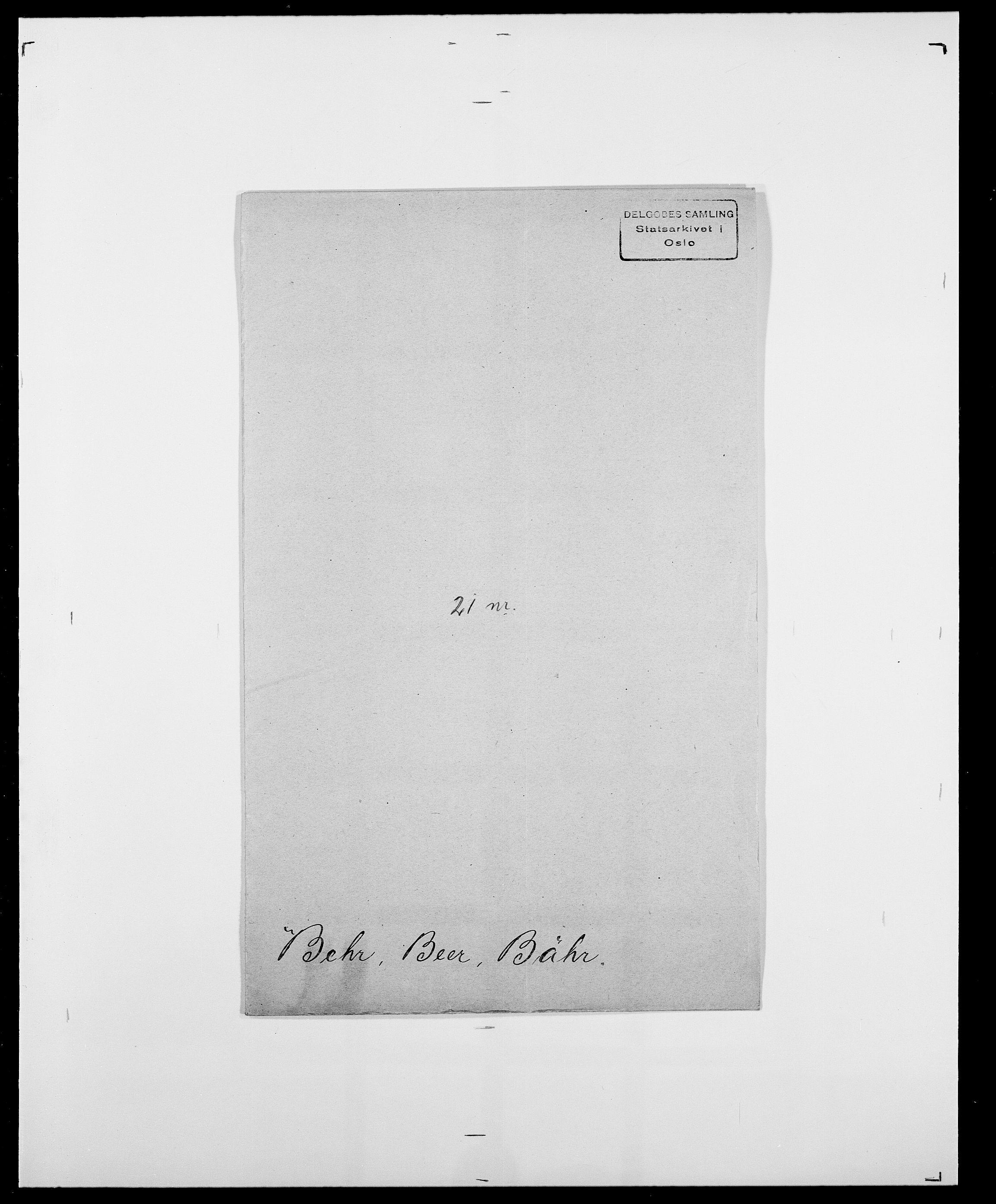 SAO, Delgobe, Charles Antoine - samling, D/Da/L0003: Barca - Bergen, s. 658