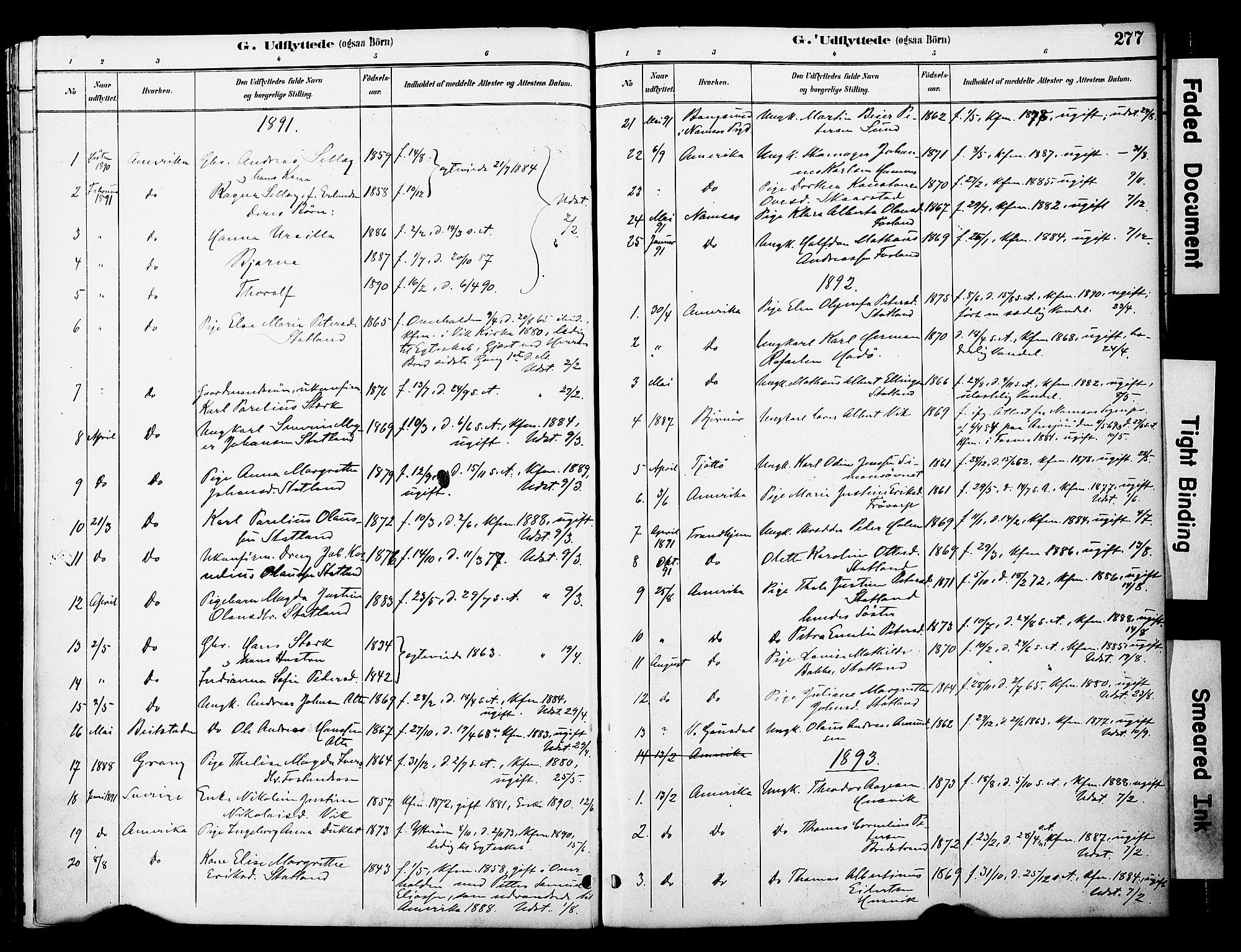 SAT, Ministerialprotokoller, klokkerbøker og fødselsregistre - Nord-Trøndelag, 774/L0628: Ministerialbok nr. 774A02, 1887-1903, s. 277